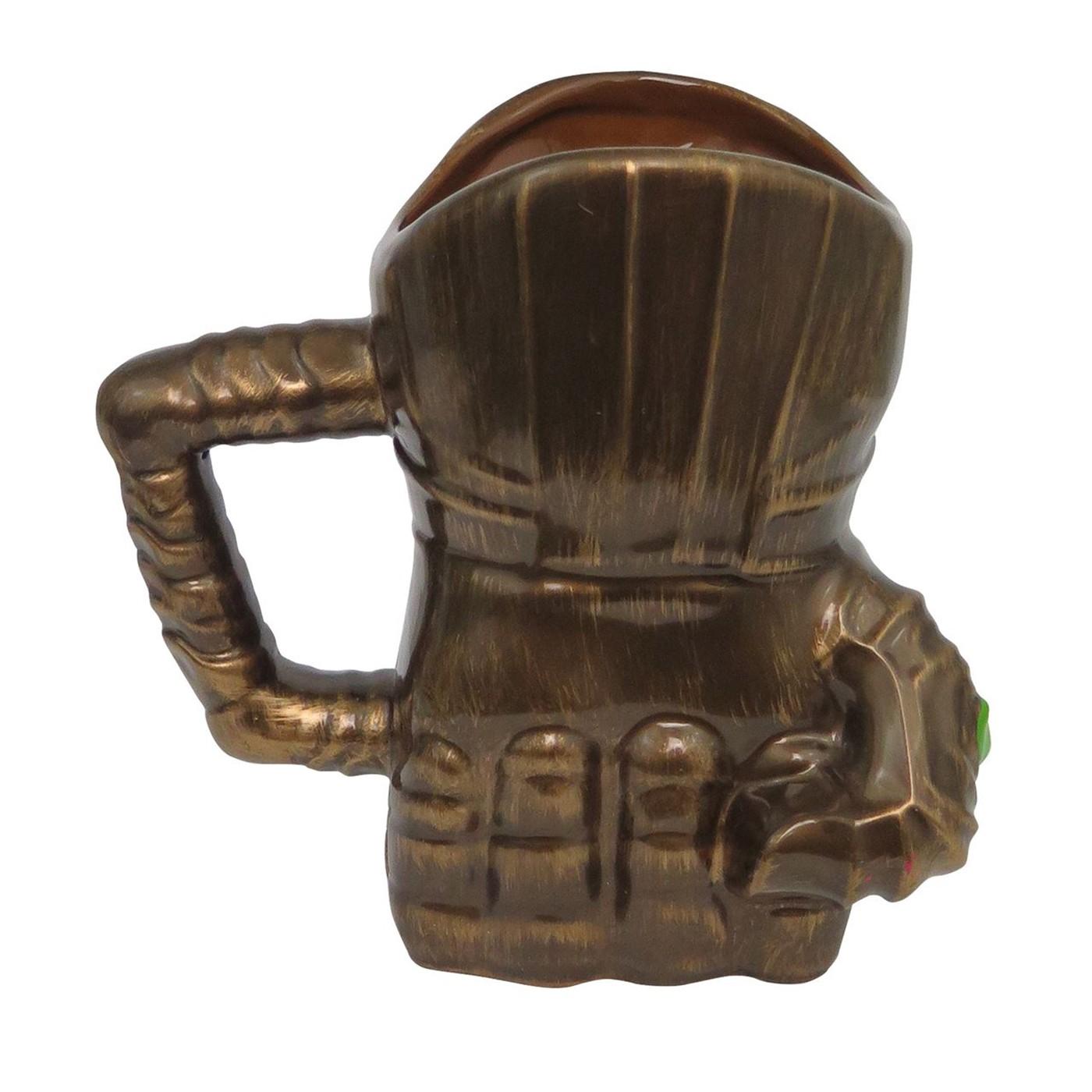 Thanos Infinity Wars Gauntlet 20oz Sculpted Ceramic Mug