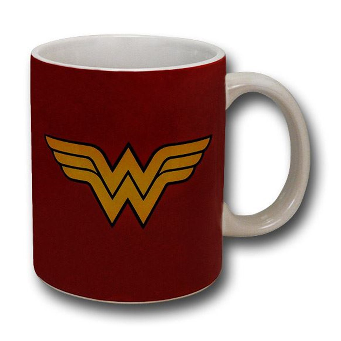 Wonder Woman Logo with White Handle 12oz Mug