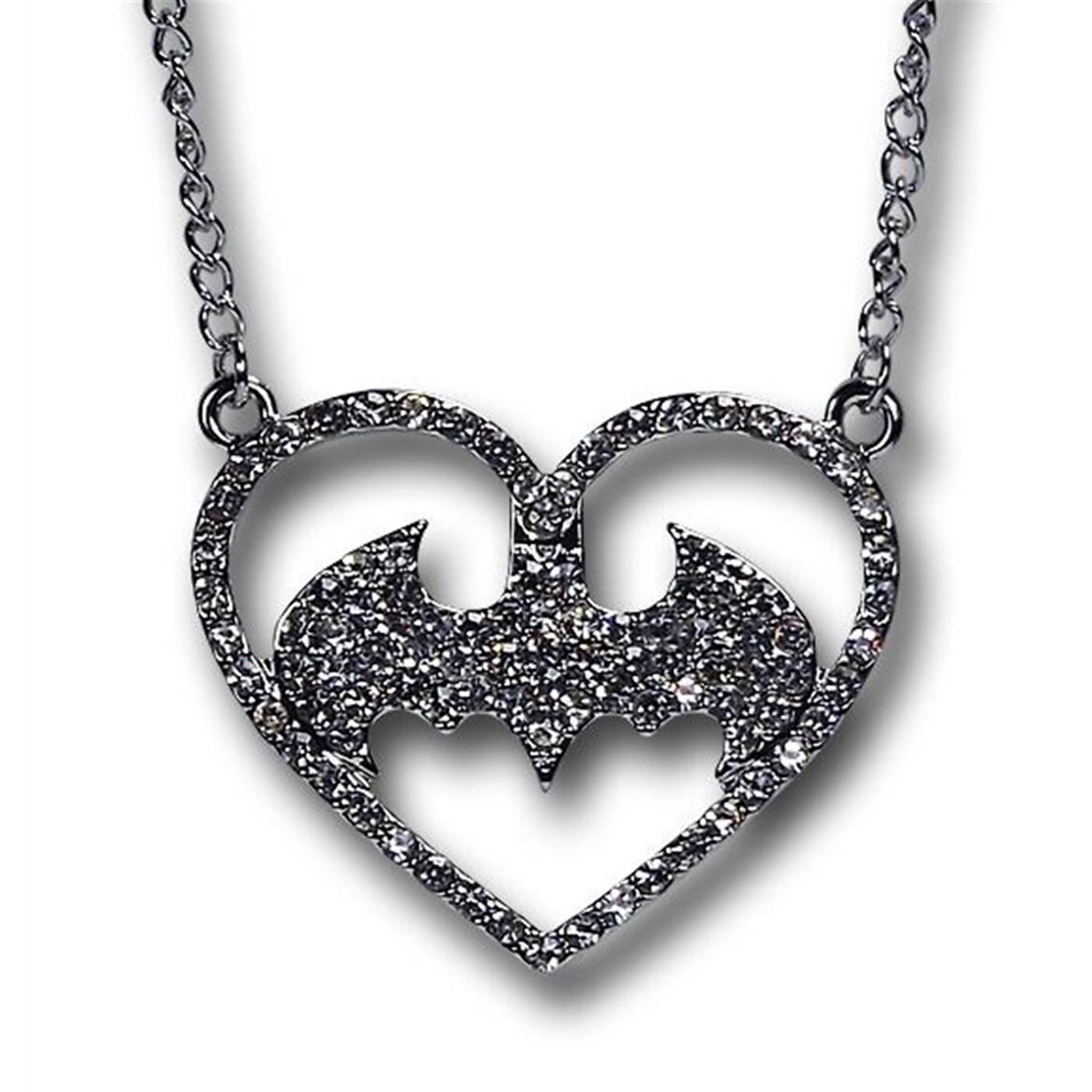 Batman Heart Necklace