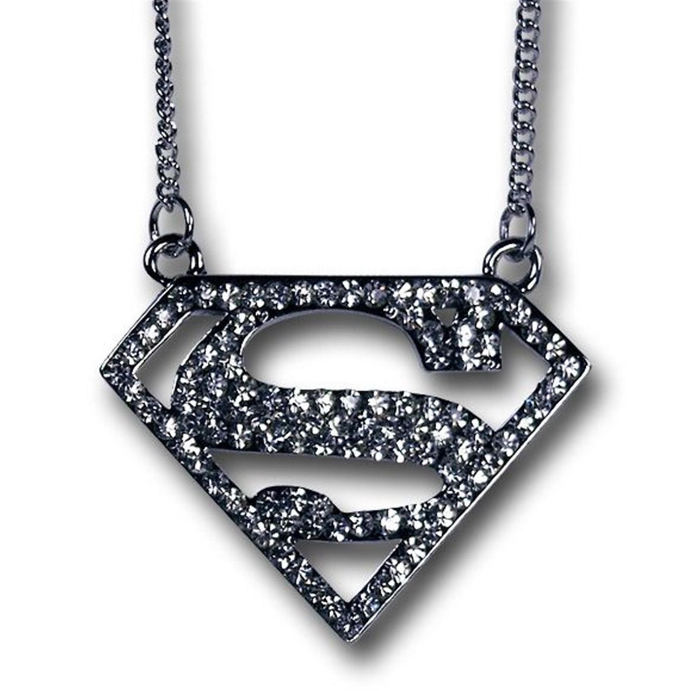 Superman Bling Symbol Necklace