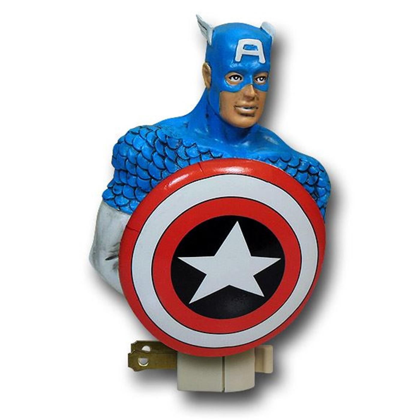 Captain America Figural Night Light