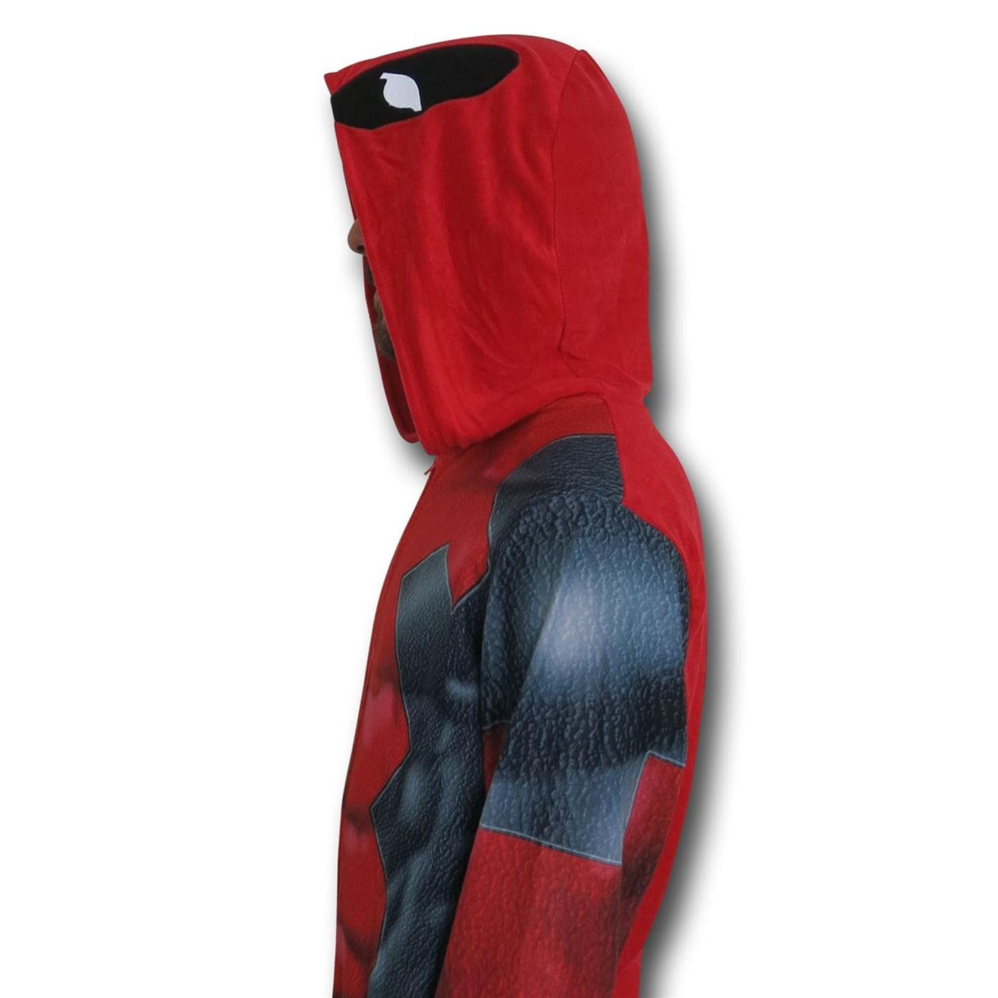 Deadpool Sublimated Pajamas Union Suit