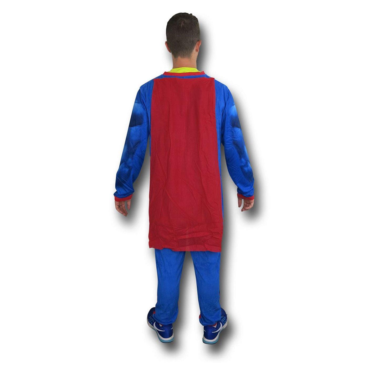 Superman Big Shield Sublimated Union Suit