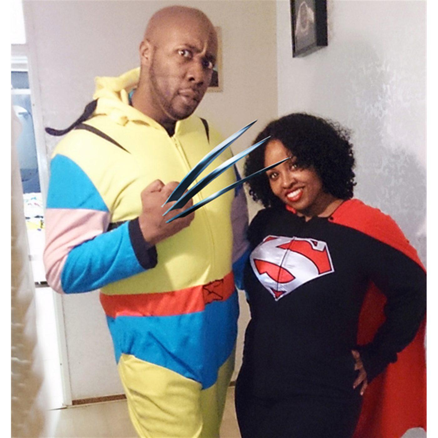 Superman Black Union Suit Pajamas w/Red Cape