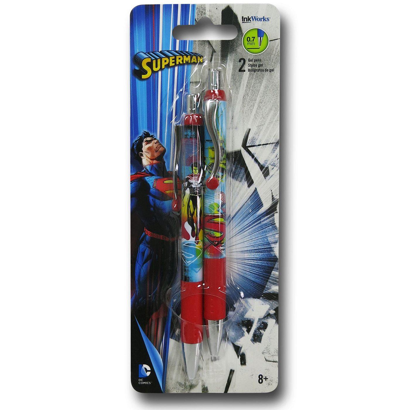 Superman Gel Pen 2-Pack