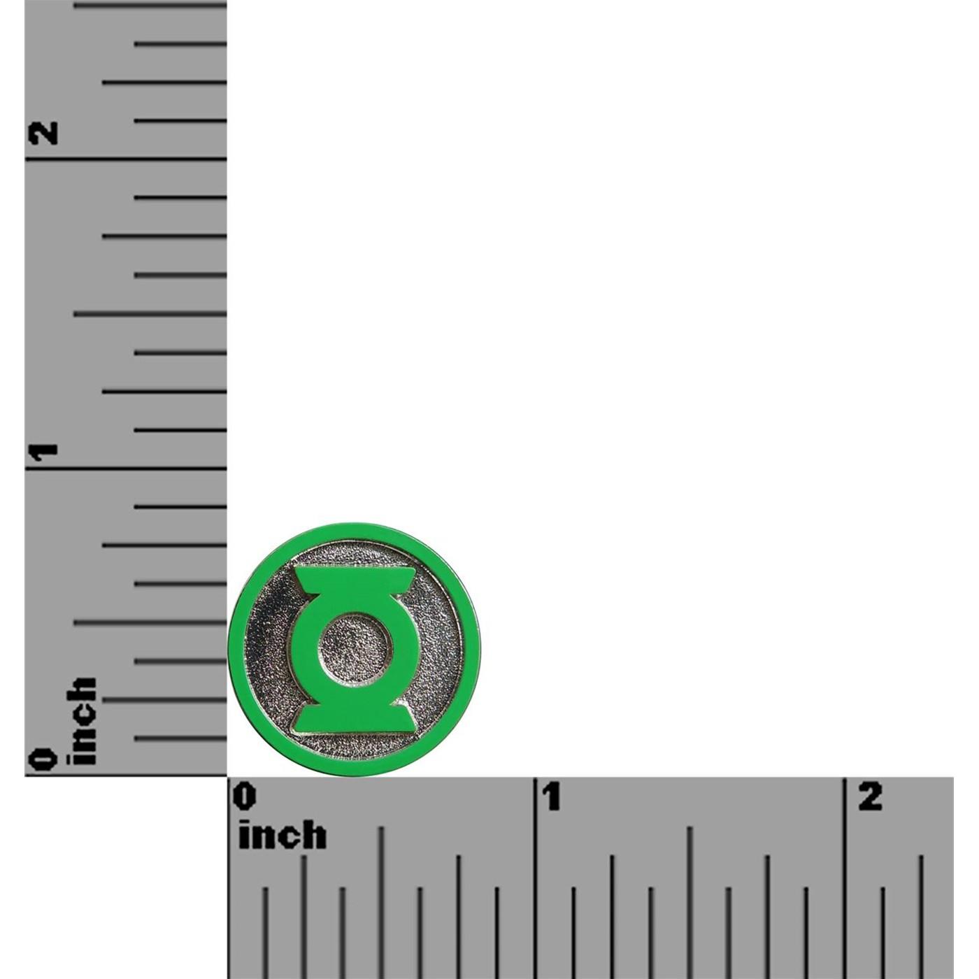 Green Lantern Symbol Colored Lapel Pin