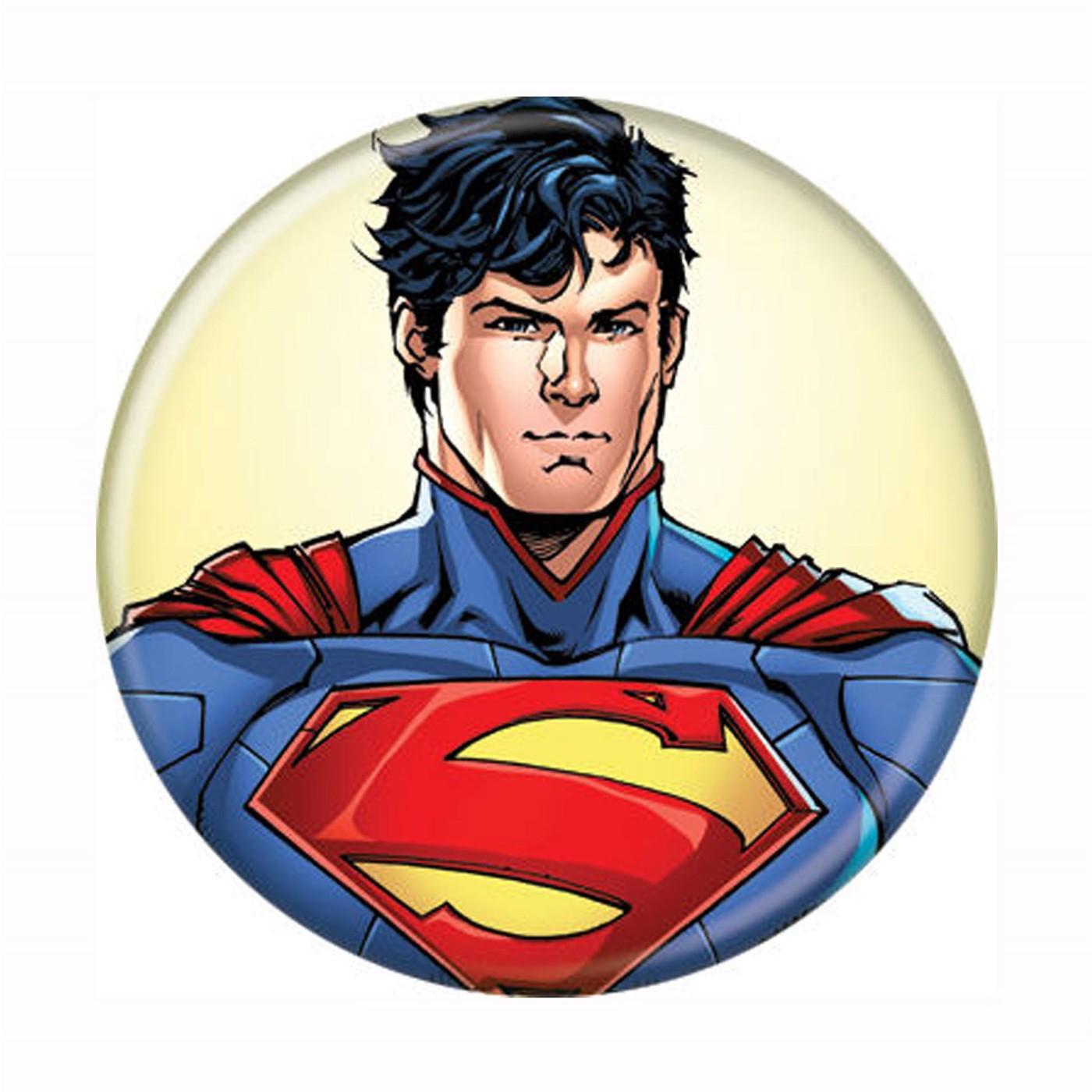 Superman Headshot New 52 Button