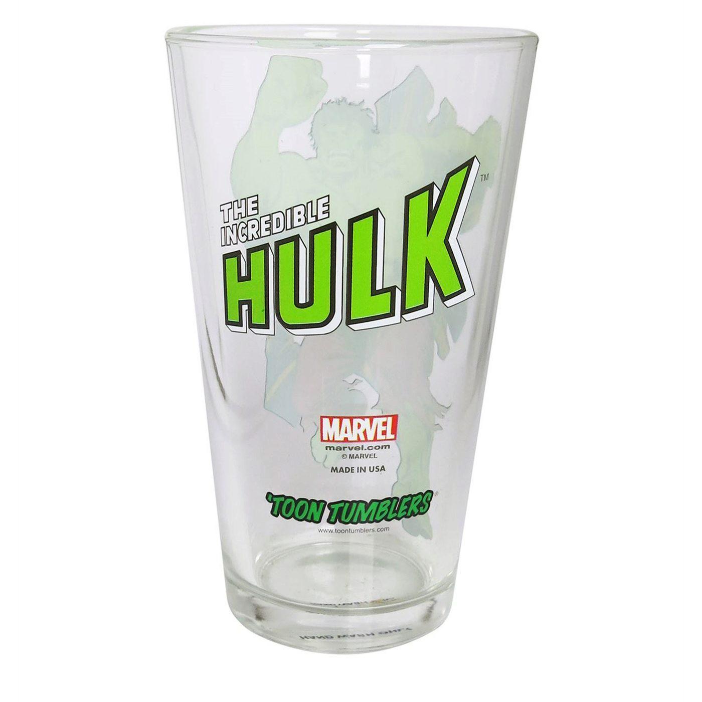 Hulk Retro Pint Glass