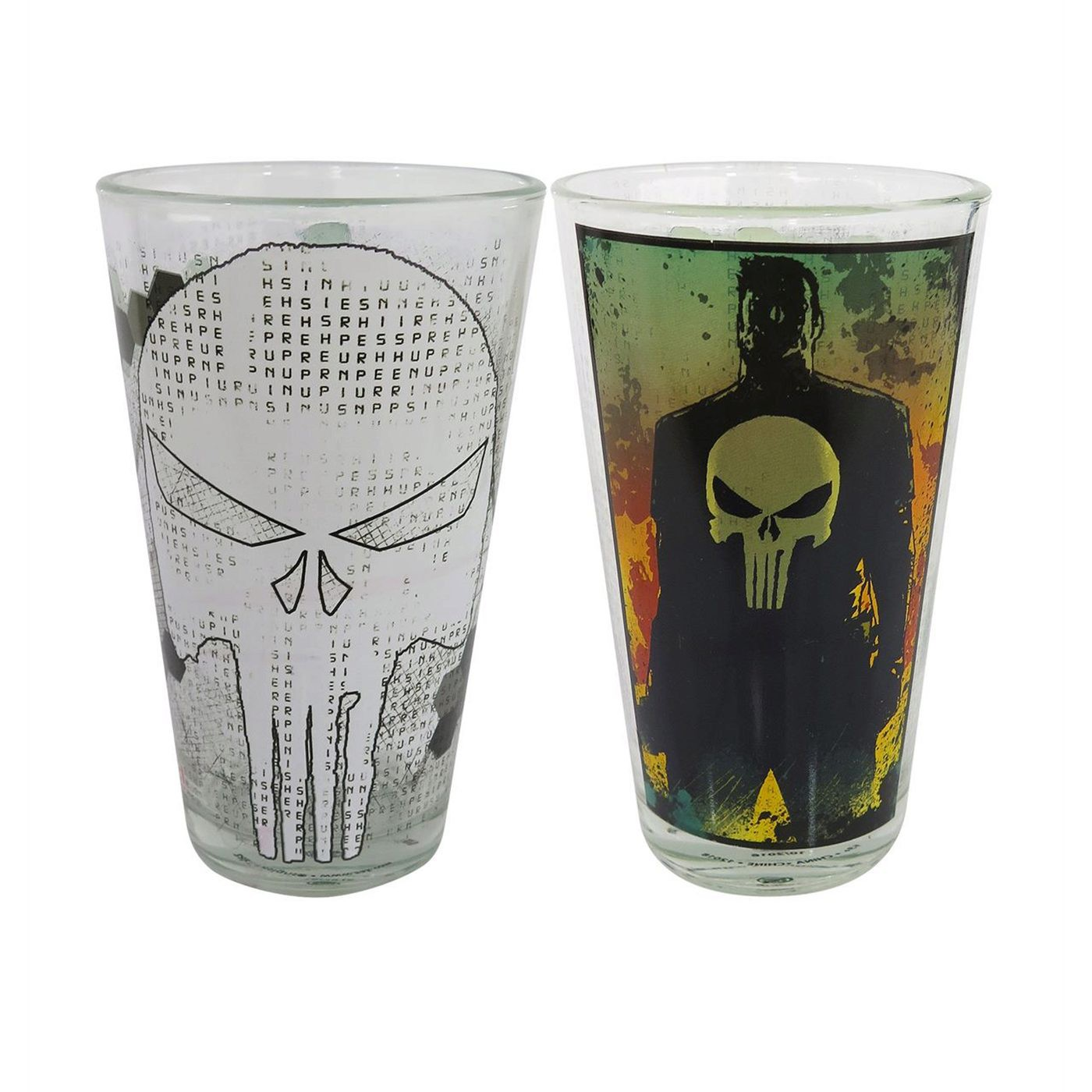 Punisher Skulls 2-Piece Pint Glass Set