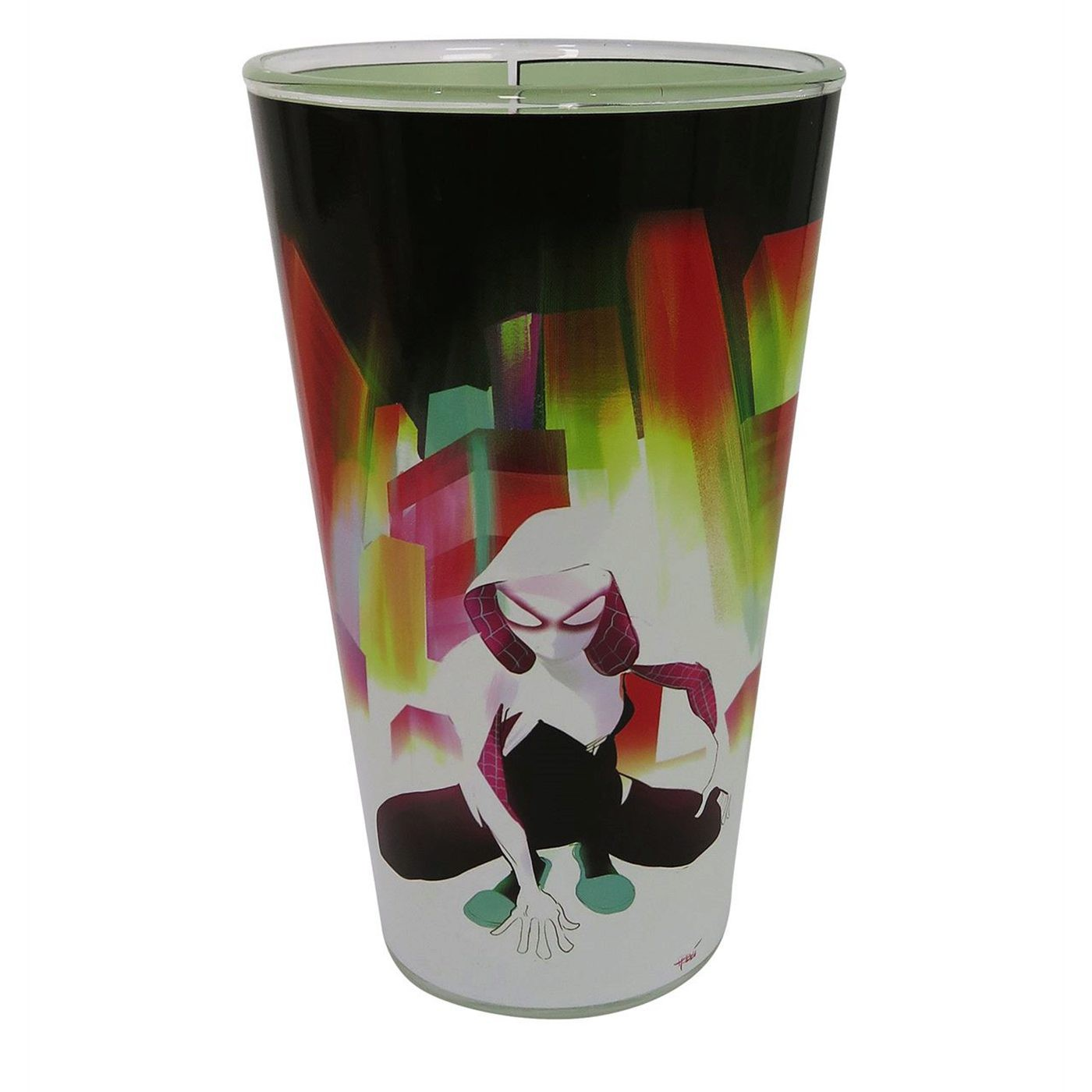 Spider-Gwen Comic Cover Pint Glass
