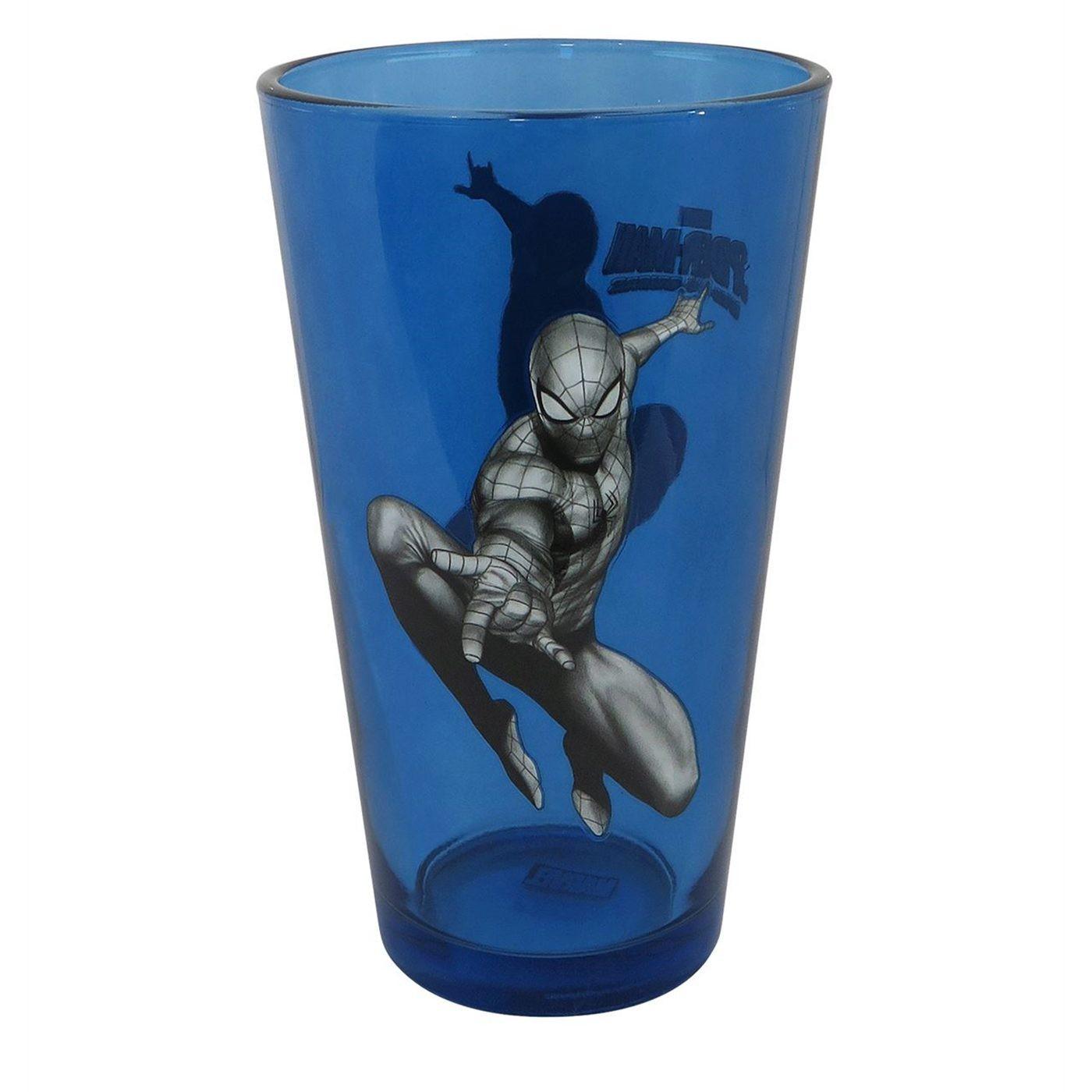 Spider-Man Leap Blue Pint Glass