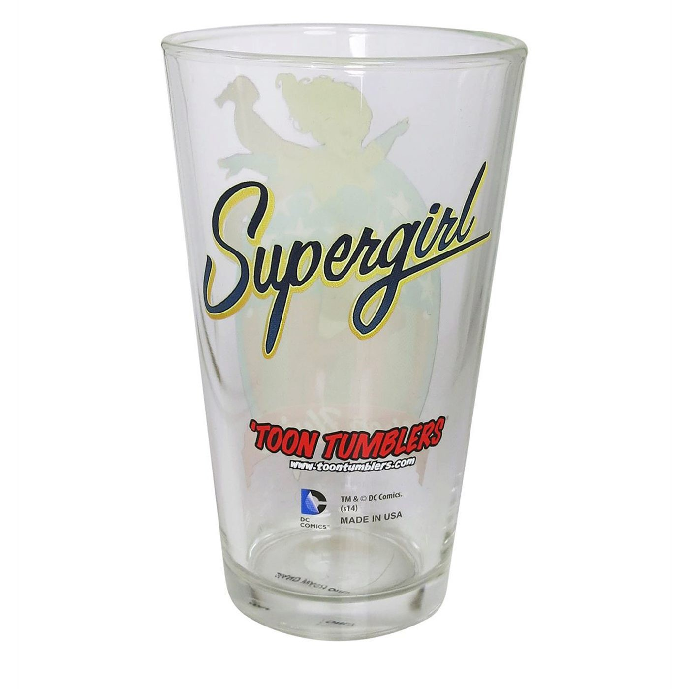 Supergirl DC Bombshell Pint Glass