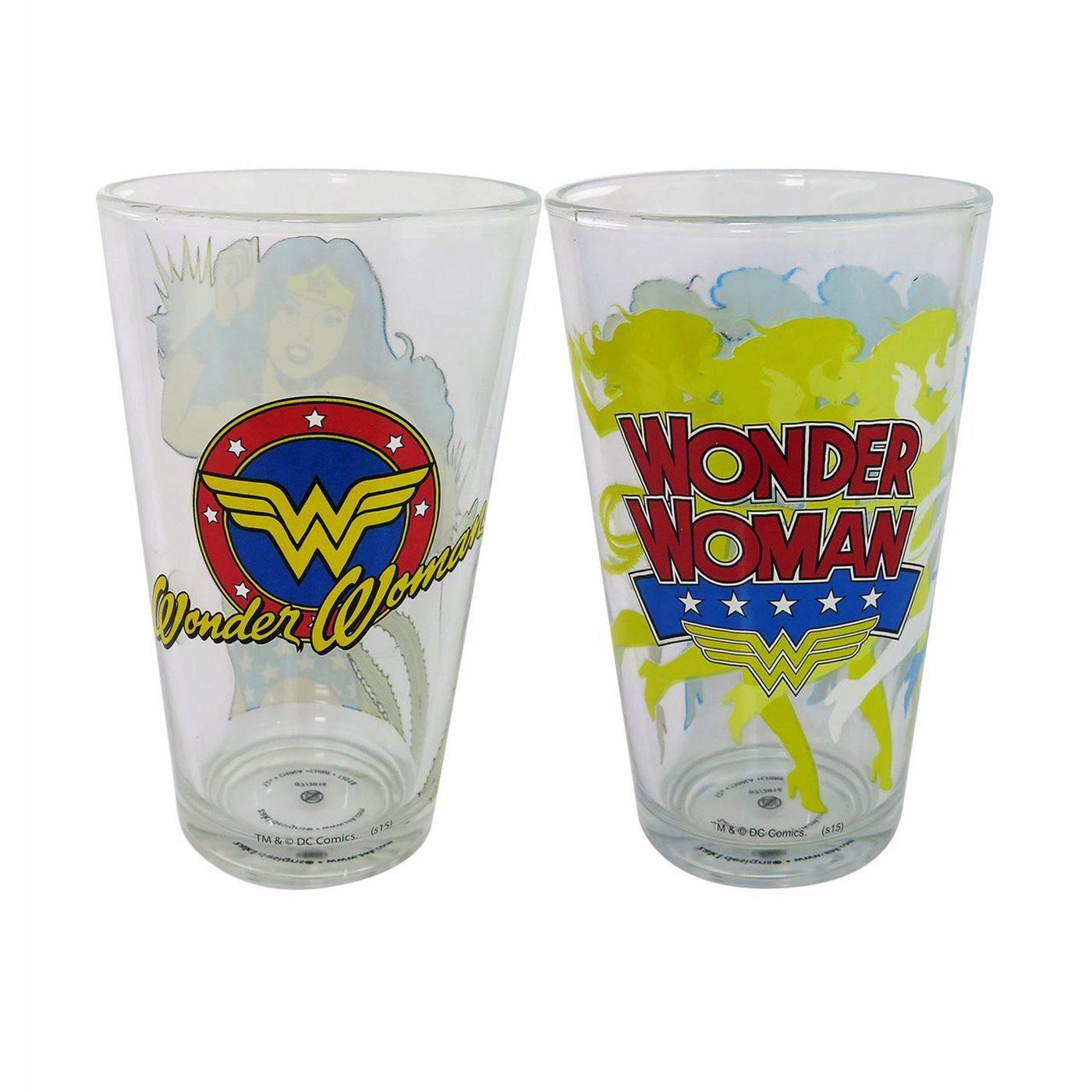 Wonder Woman Retro 2-Piece Pint Glass Set