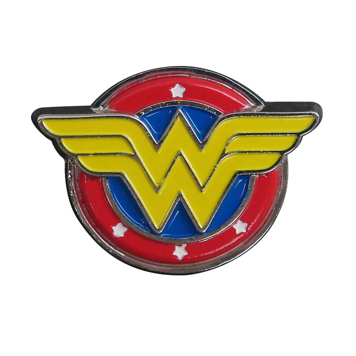 Wonder Woman Symbol Colored Lapel Pin
