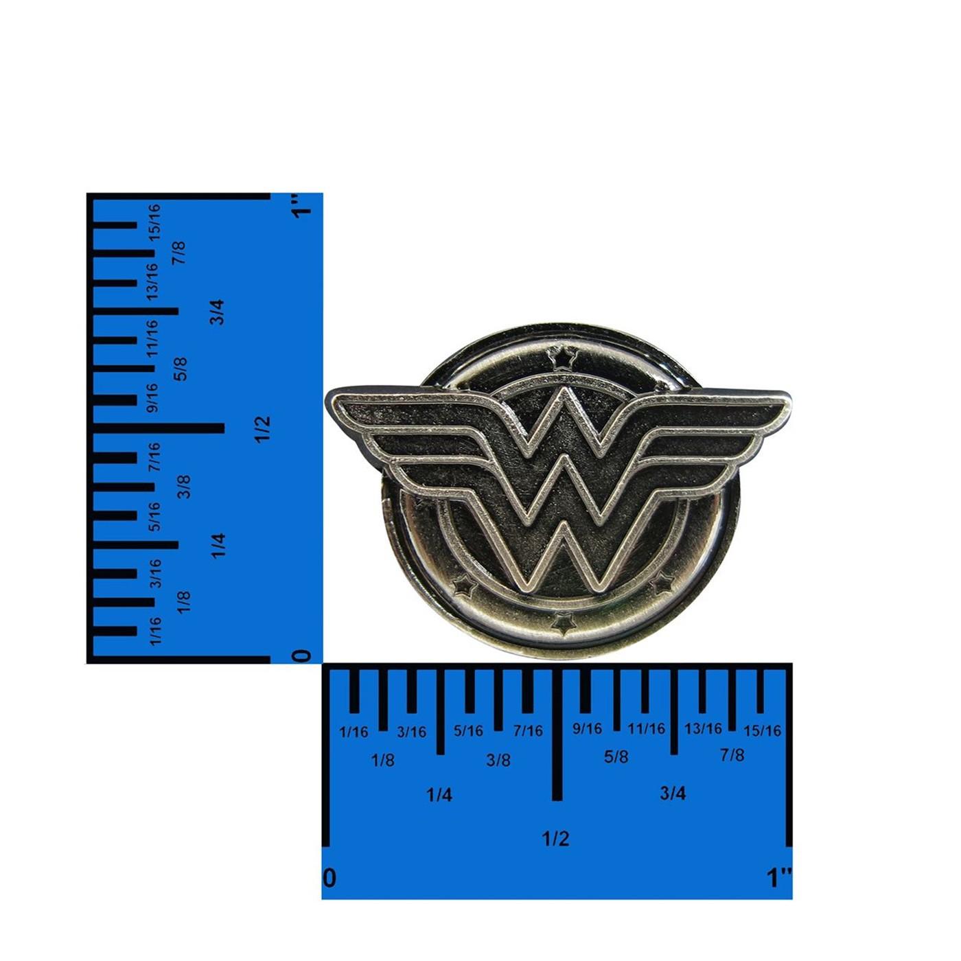 Wonder Woman Symbol Pewter Lapel Pin