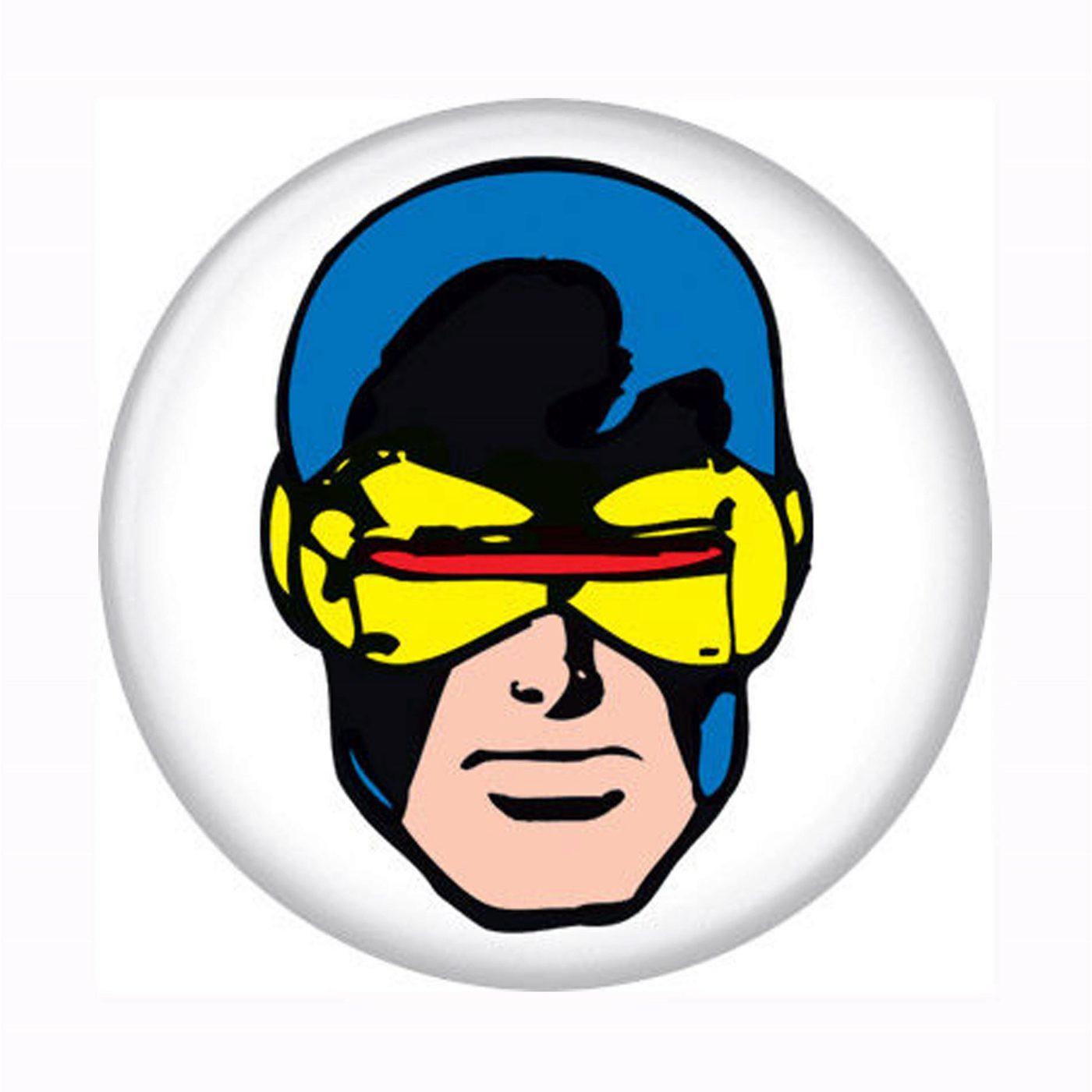 X-Men Cyclops Head Button