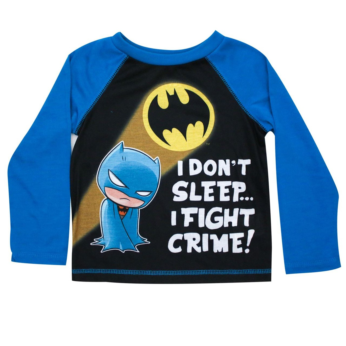 Batman I Fight Crime Toddler Jogger Sleep Set