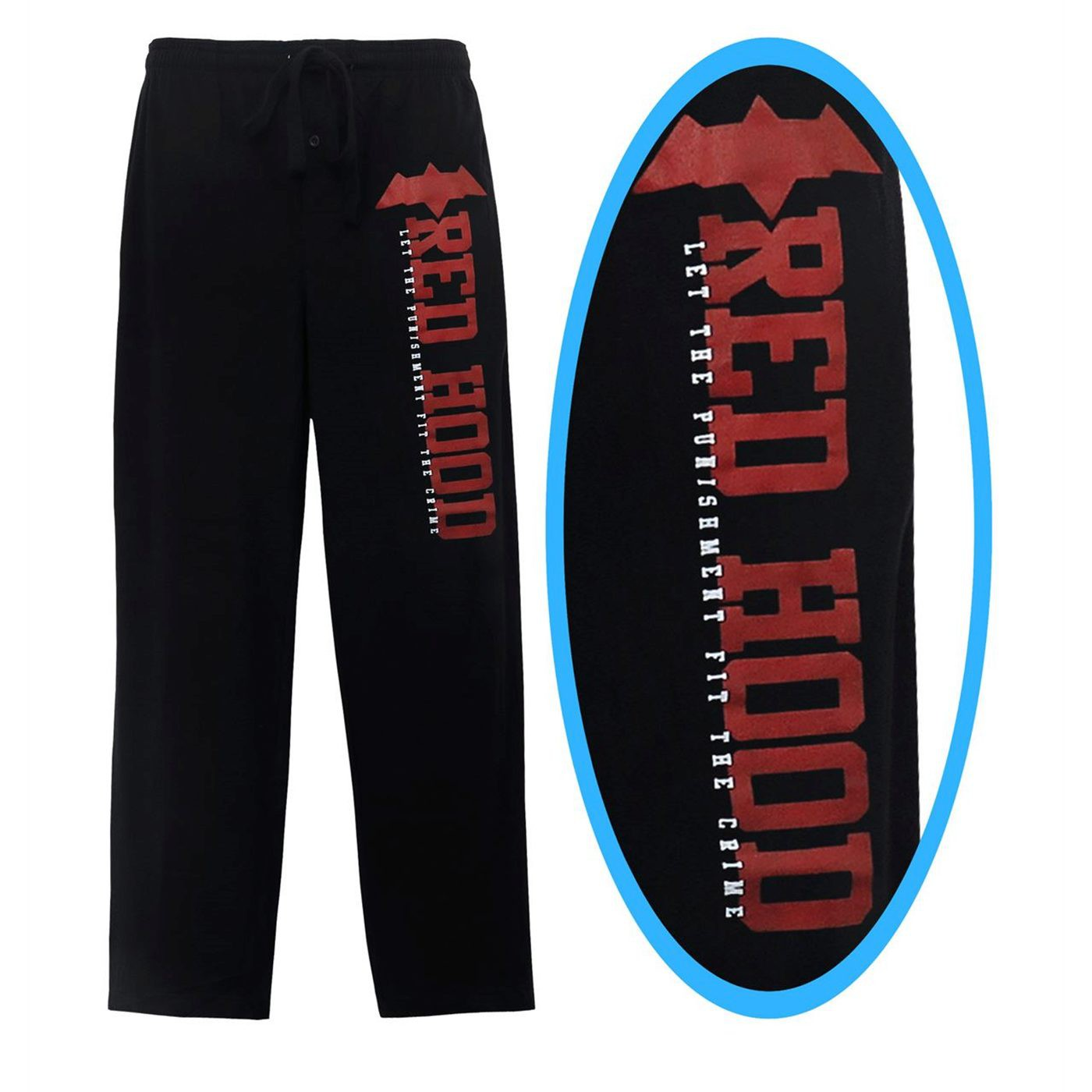 Red Hood Let the Punishment Fit Men's Pajama Pants
