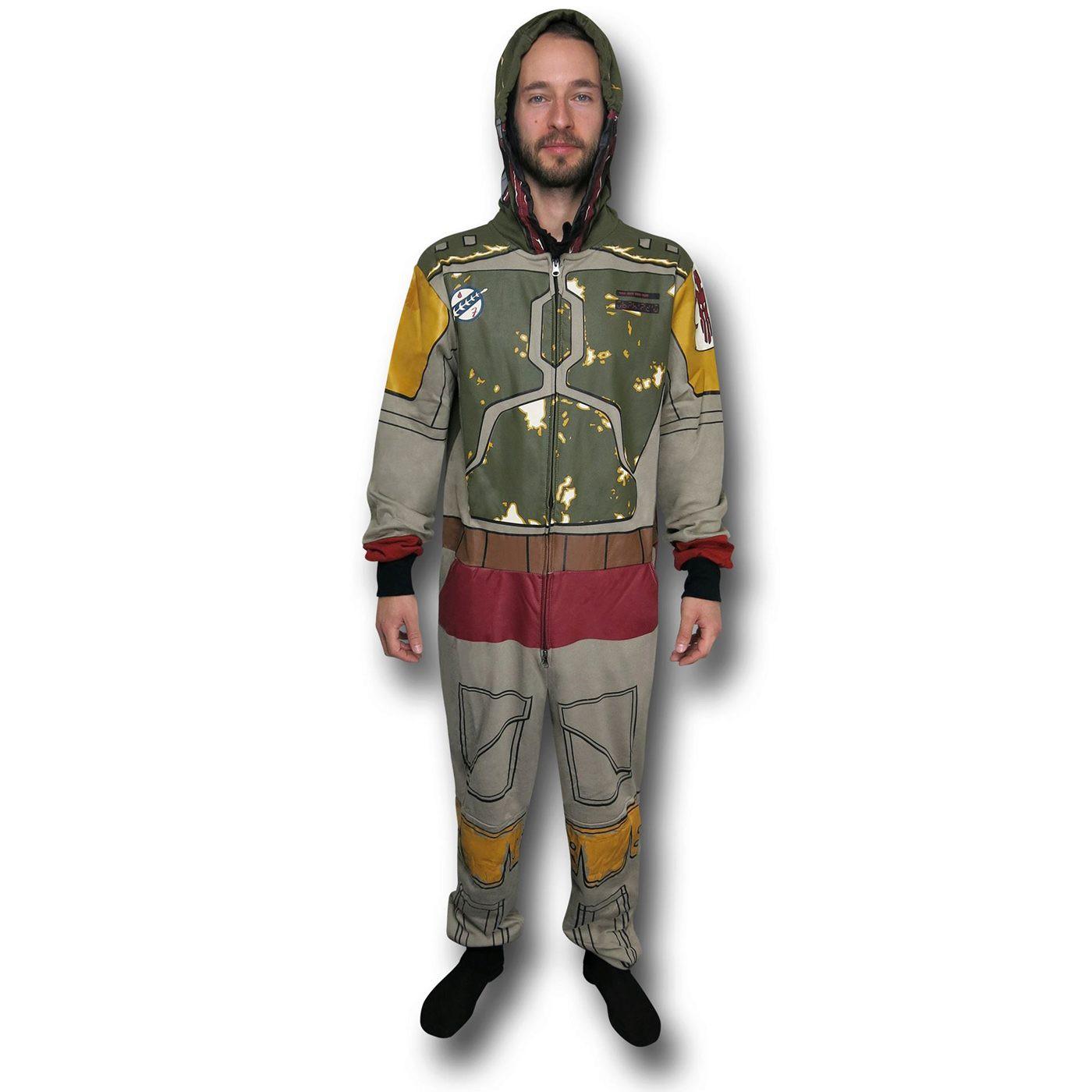 Star Wars Boba Fett Costume Adult Union Suit