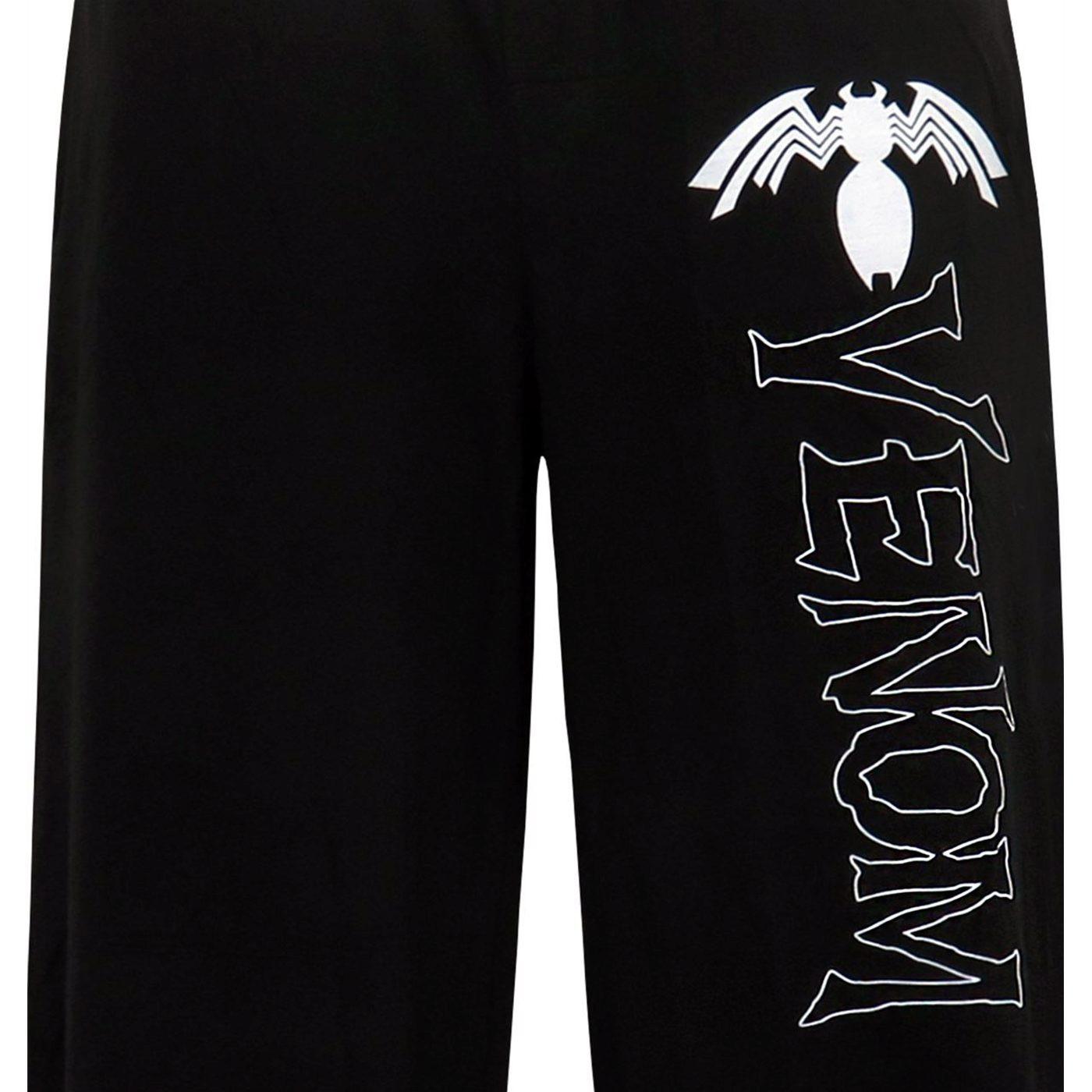 Venom Comic Logo Men's Pajama Pants