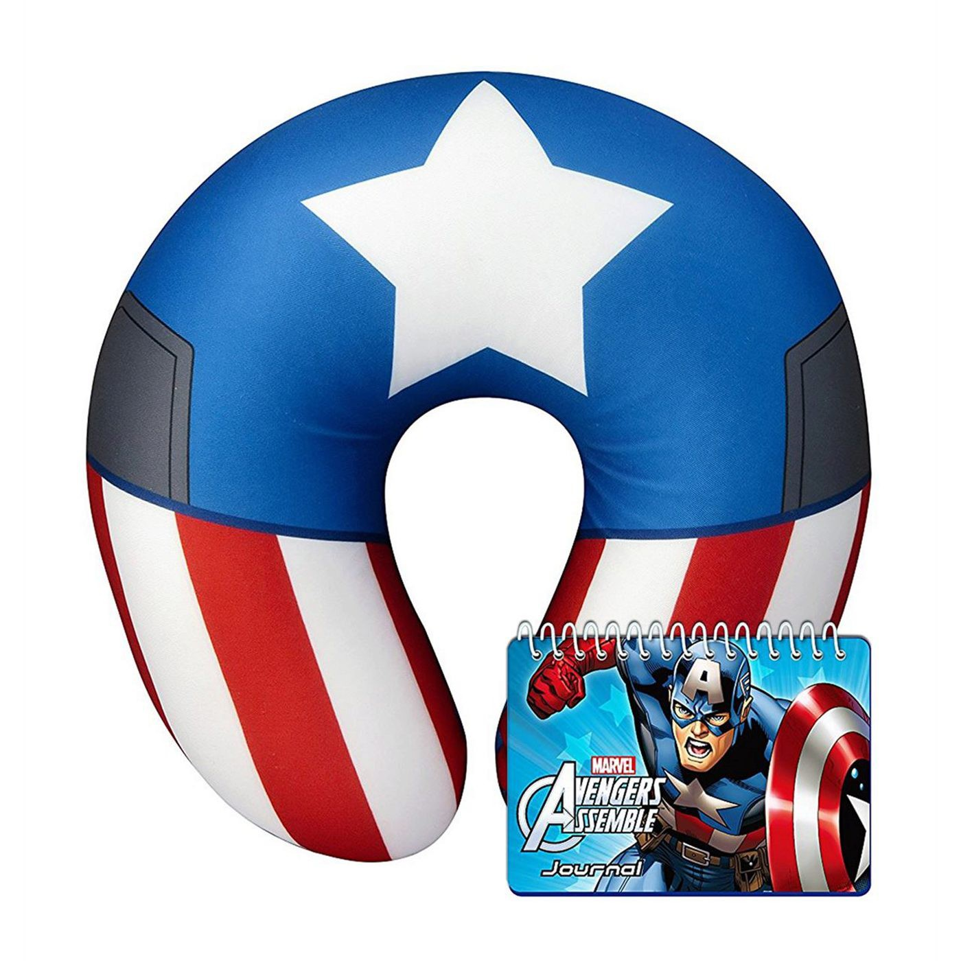 Captain America Neck Pillow and Journal Book Set