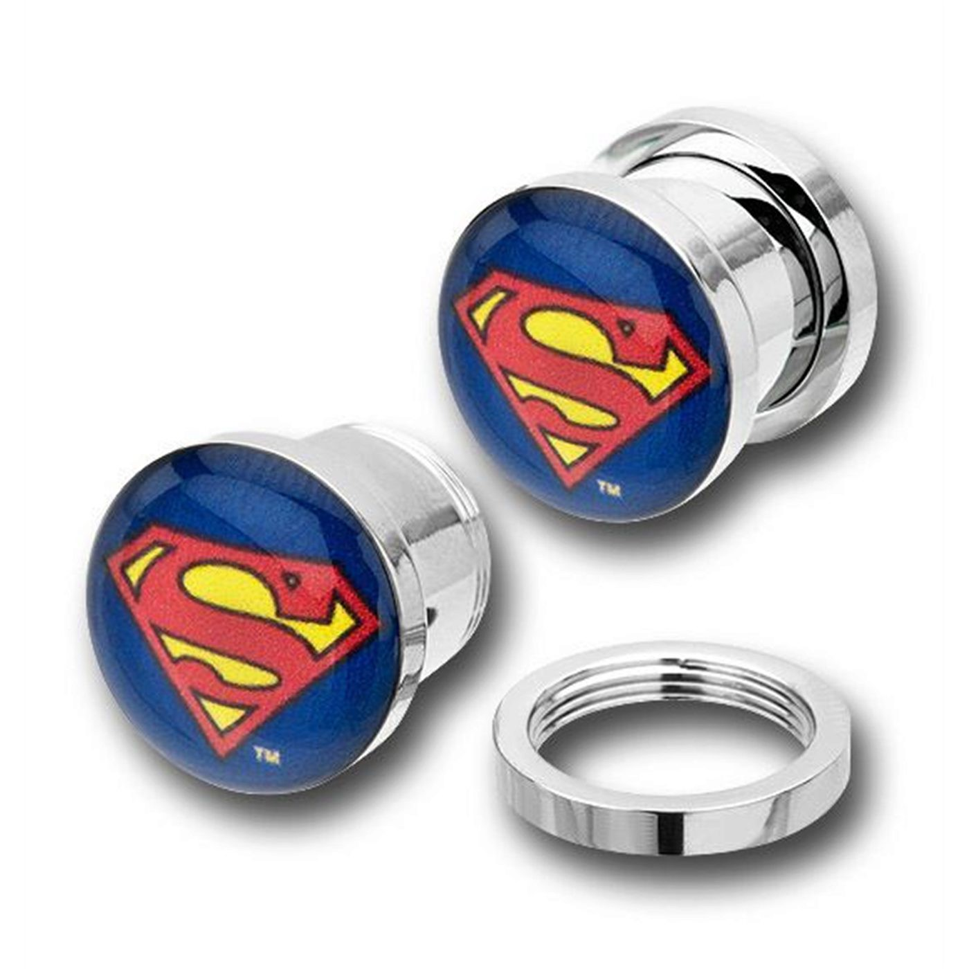 Superman 316L Surgical Steel Plugs