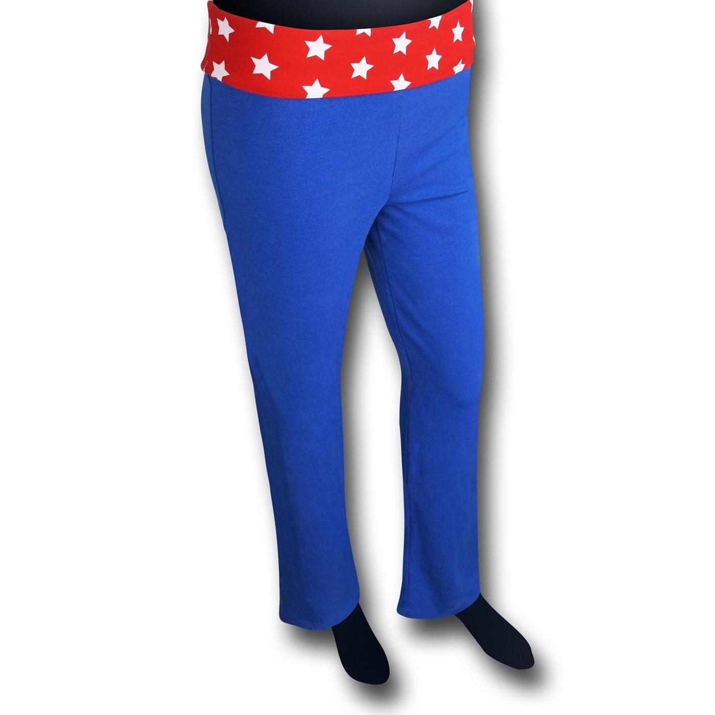 Wonder Woman Women's Blue Yoga Pants