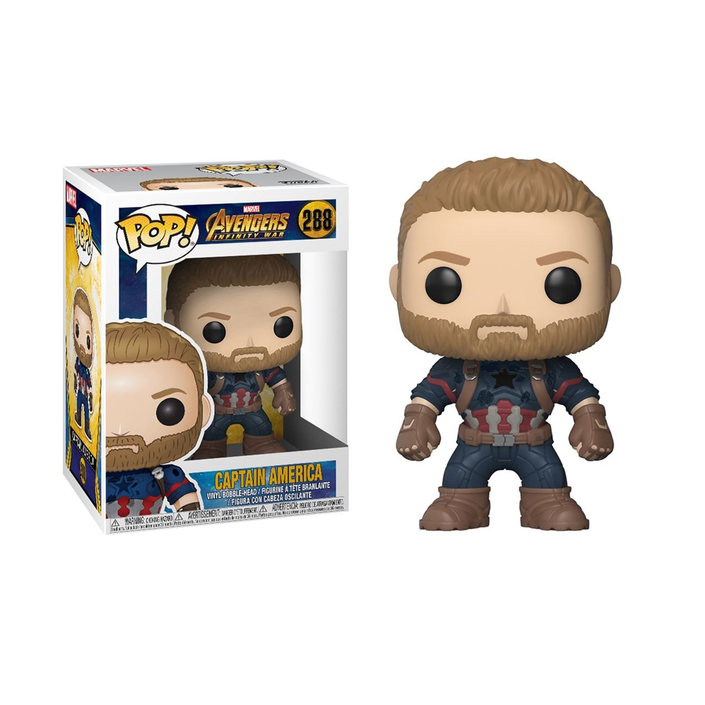 Infinity War Captain America Funko Pop Bobble Head