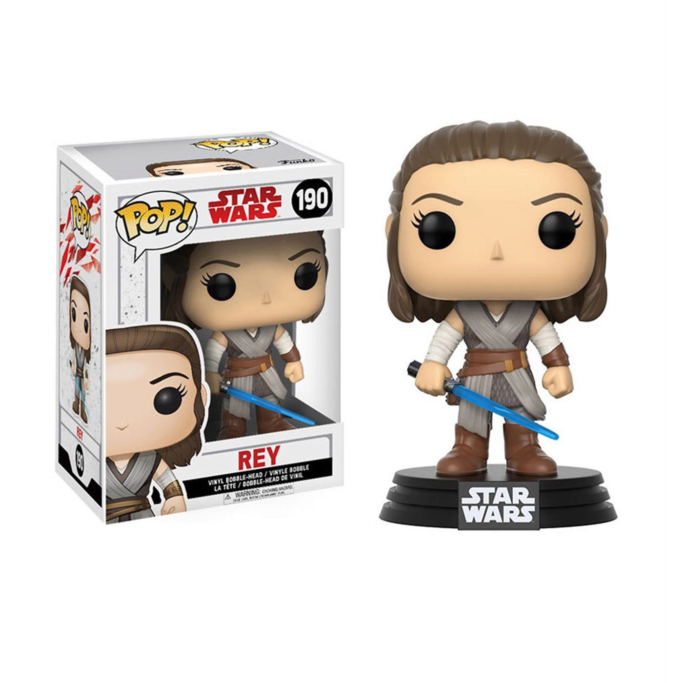 Star Wars The Last Jedi Rey Funko Pop Bobble Head