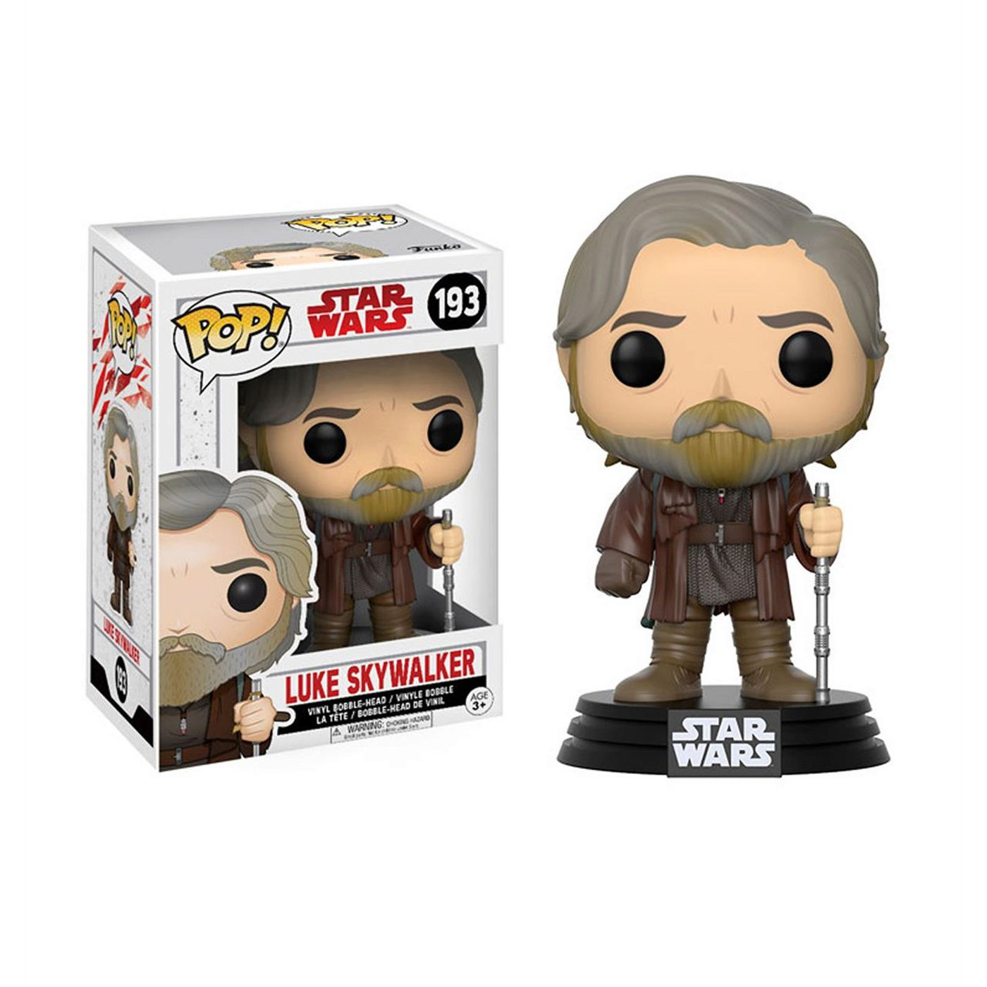 Star Wars Last Jedi Luke Skywalker Funko Pop Bobble Head