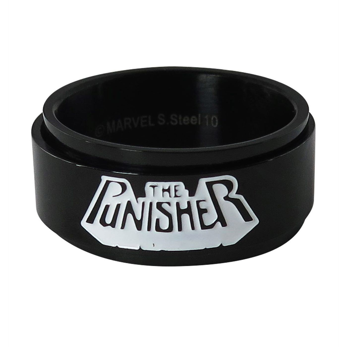 Punisher Stainless Steel Plated Spinner Ring
