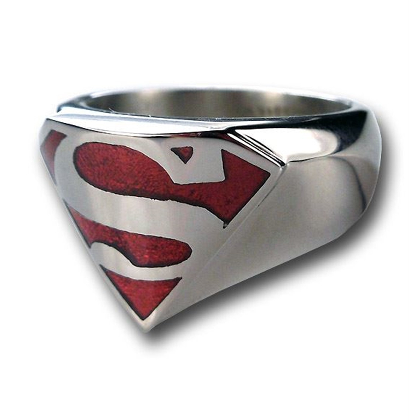 Superman Translucent Stainless Steel Ring