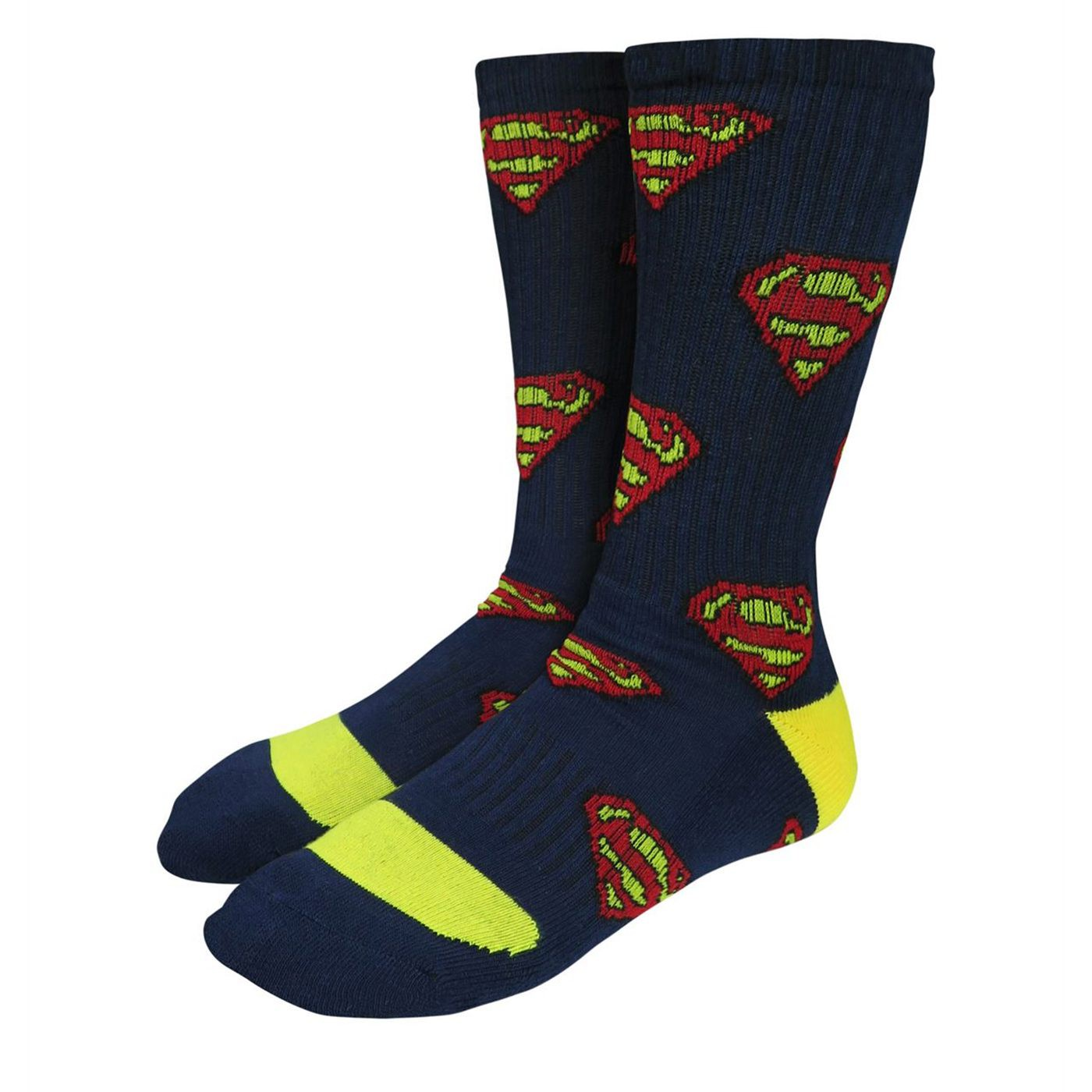 Superman Symbols Athletic Kids Sock 2 Pack