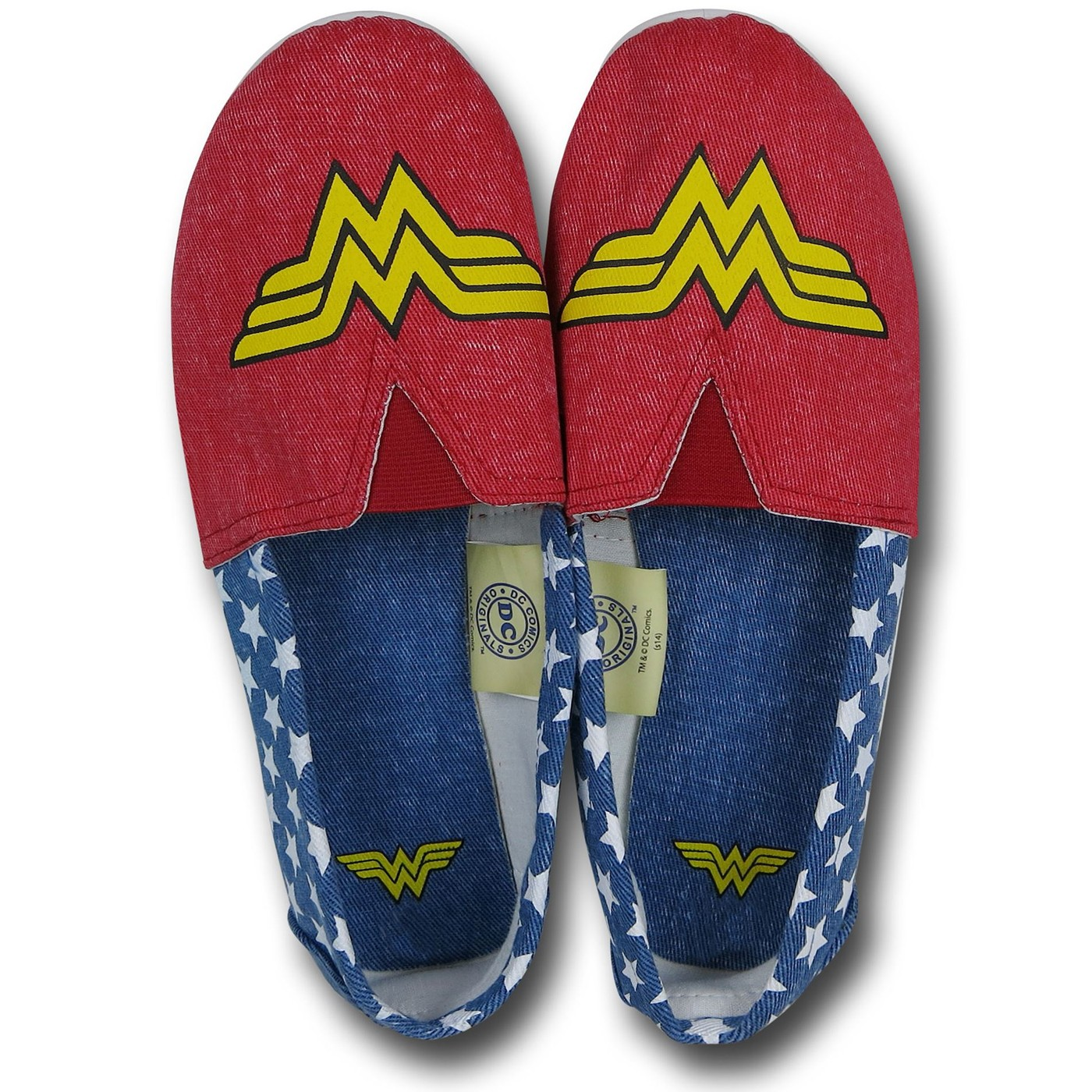 Wonder Woman All-Over Print Women's Slip-On Shoes