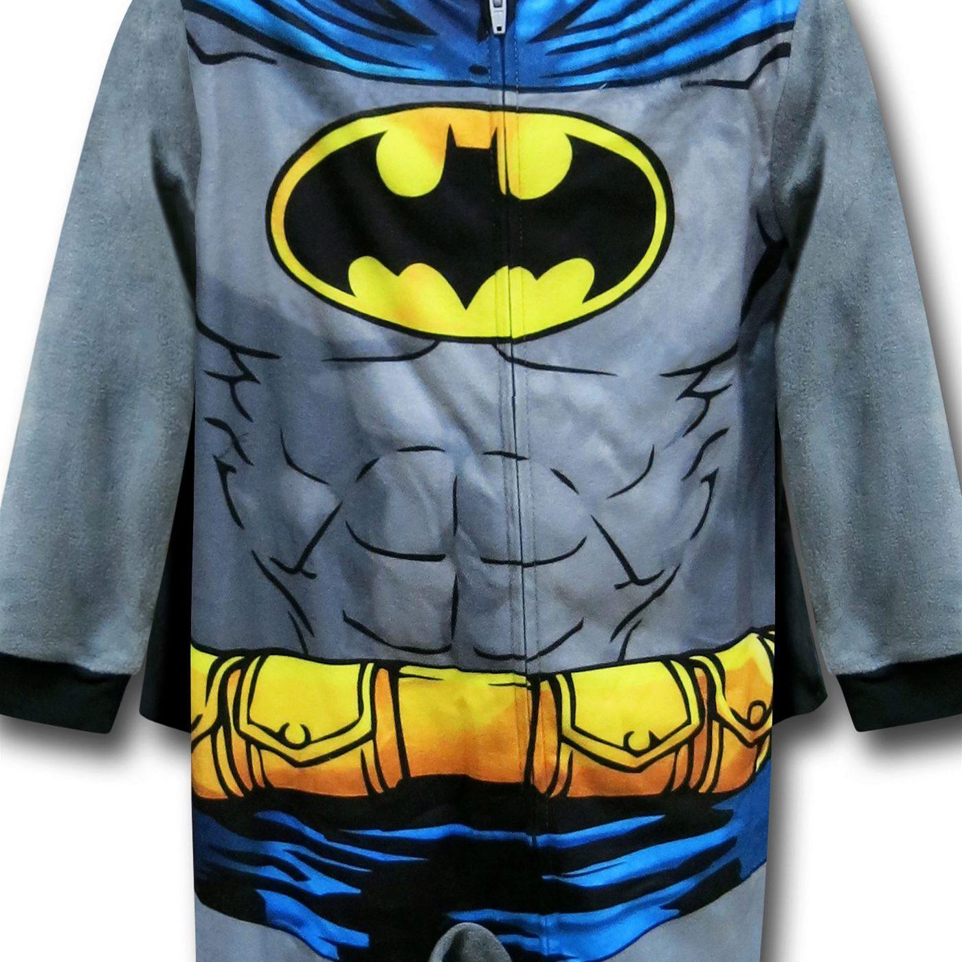 Batman Caped Fleece Kids Costume Pajamas