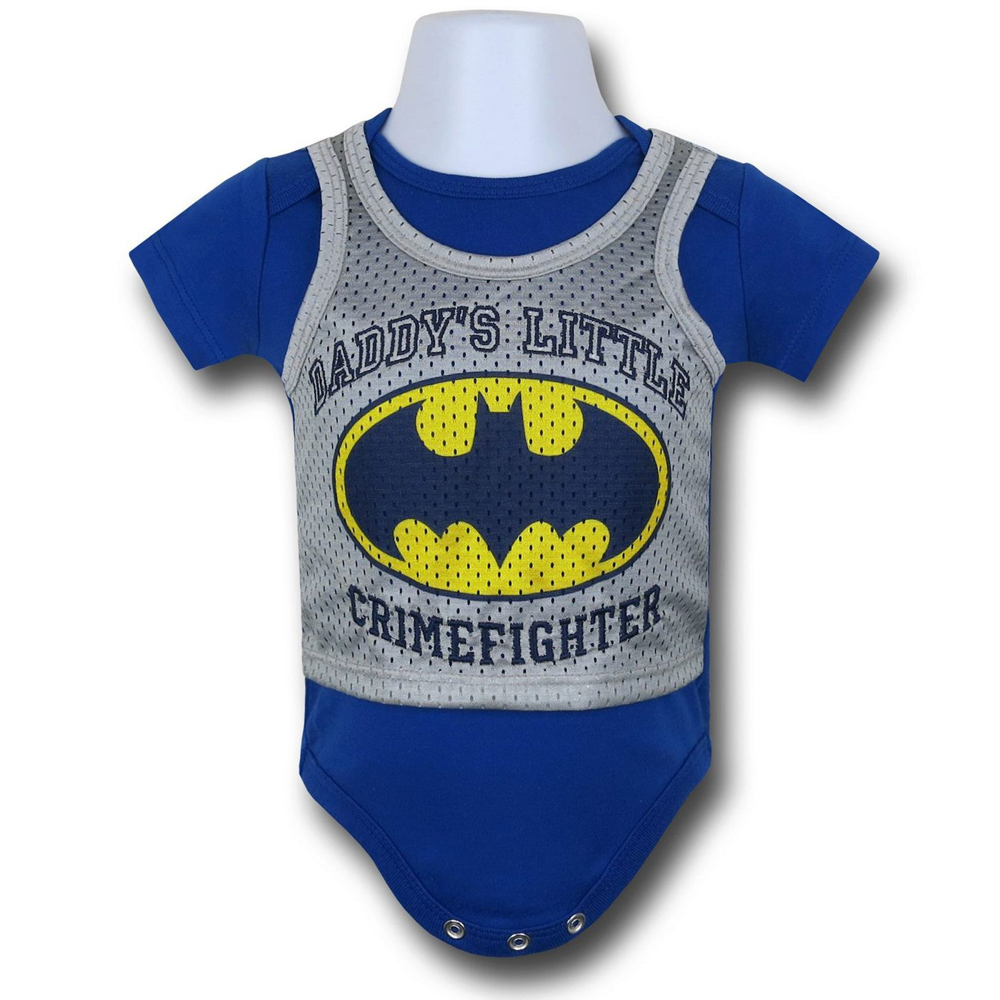 Batman Athletic Symbol Infant Snapsuit
