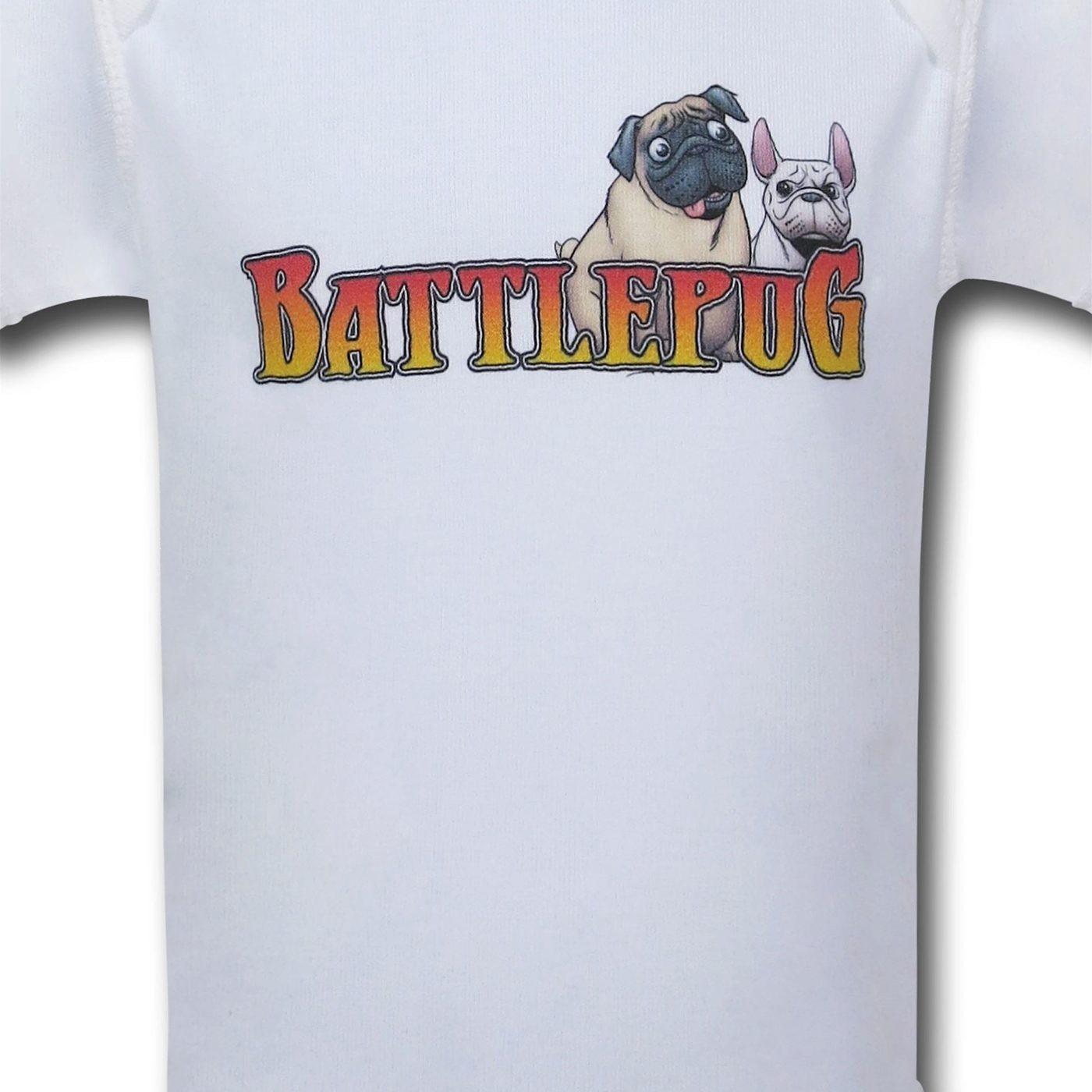 BattlePug White Infant Snapsuit