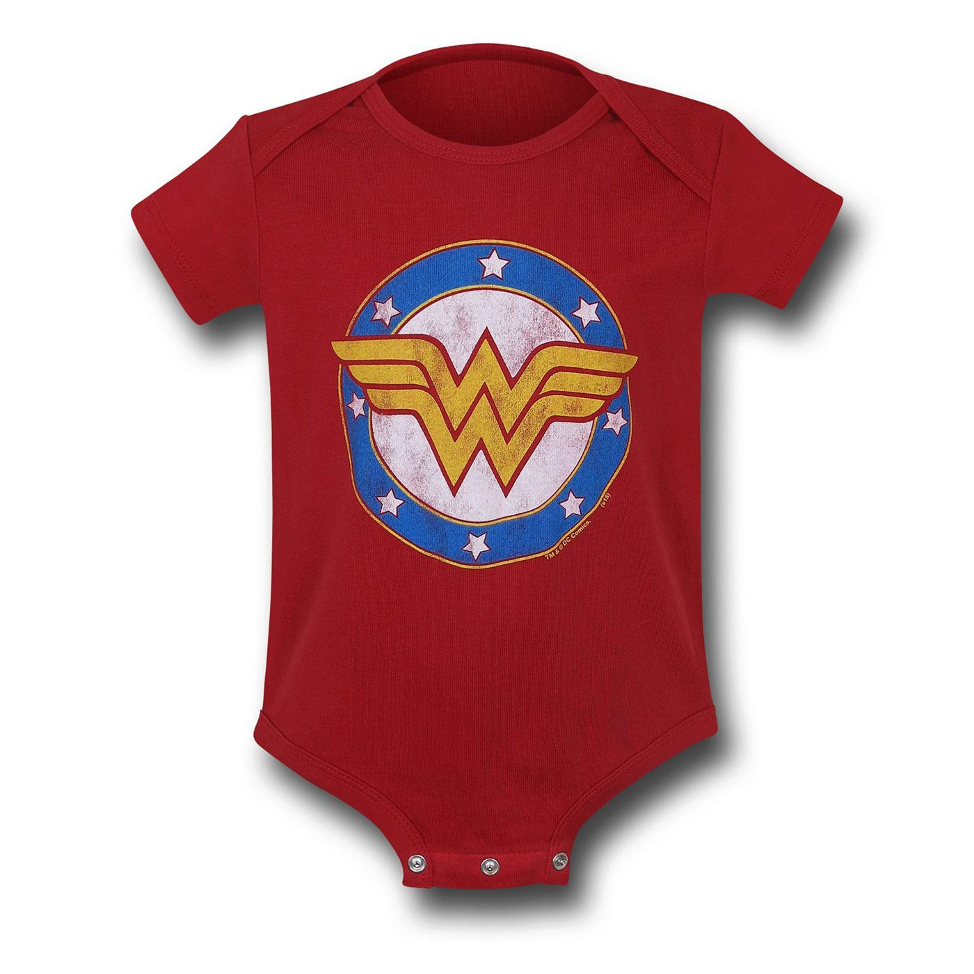 Wonder Woman Symbol & Stars Infant Snapsuit