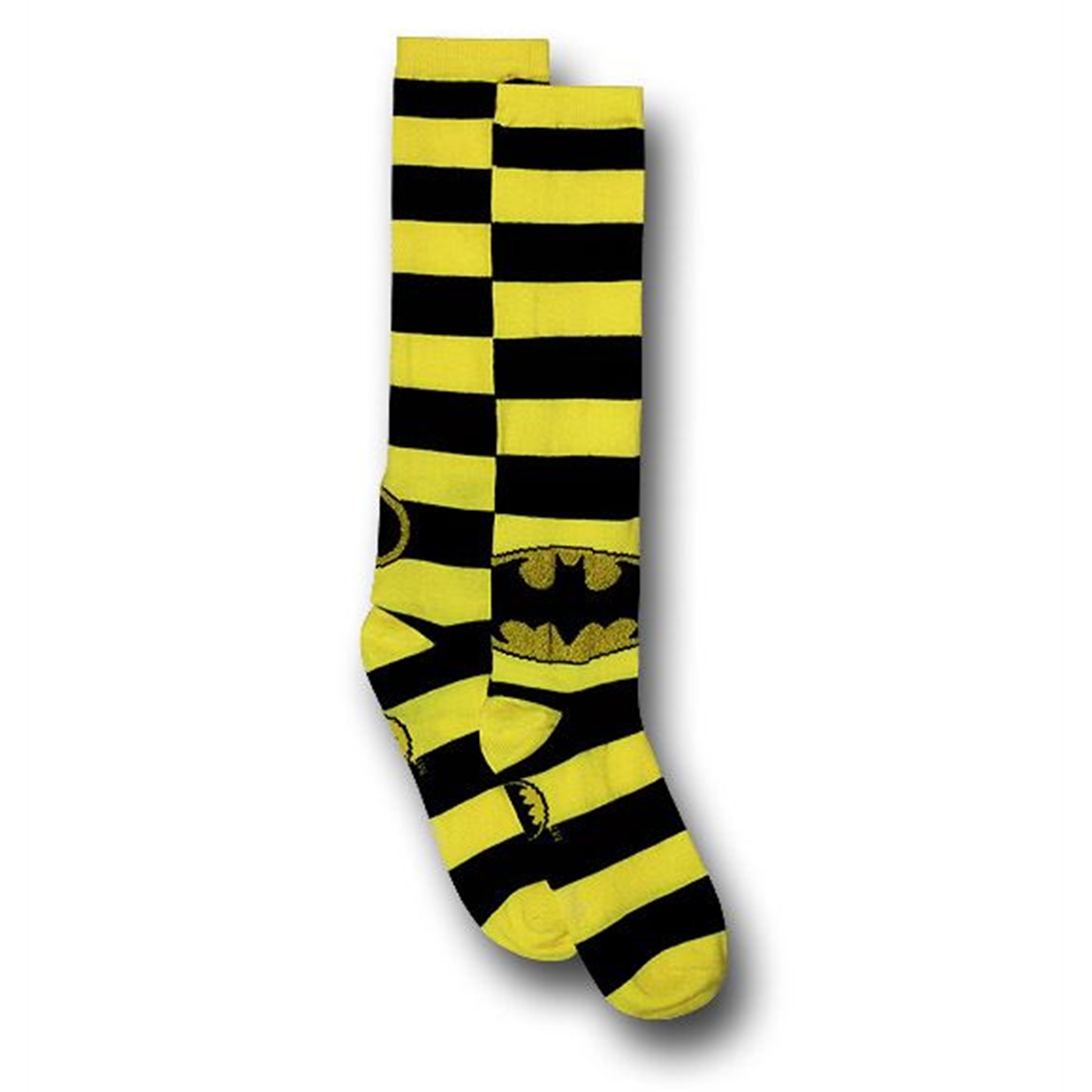 Batman Black/Yellow Striped Women's Knee-High Socks