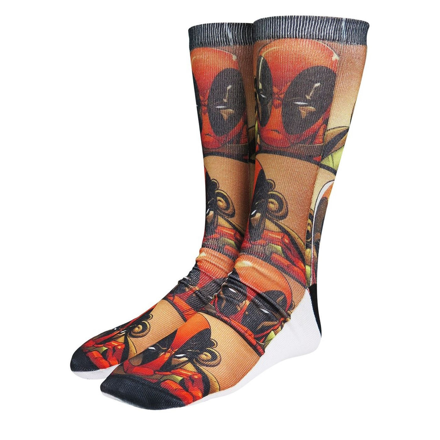 Deadpool Action Shots Photoreal Socks 2-Pack