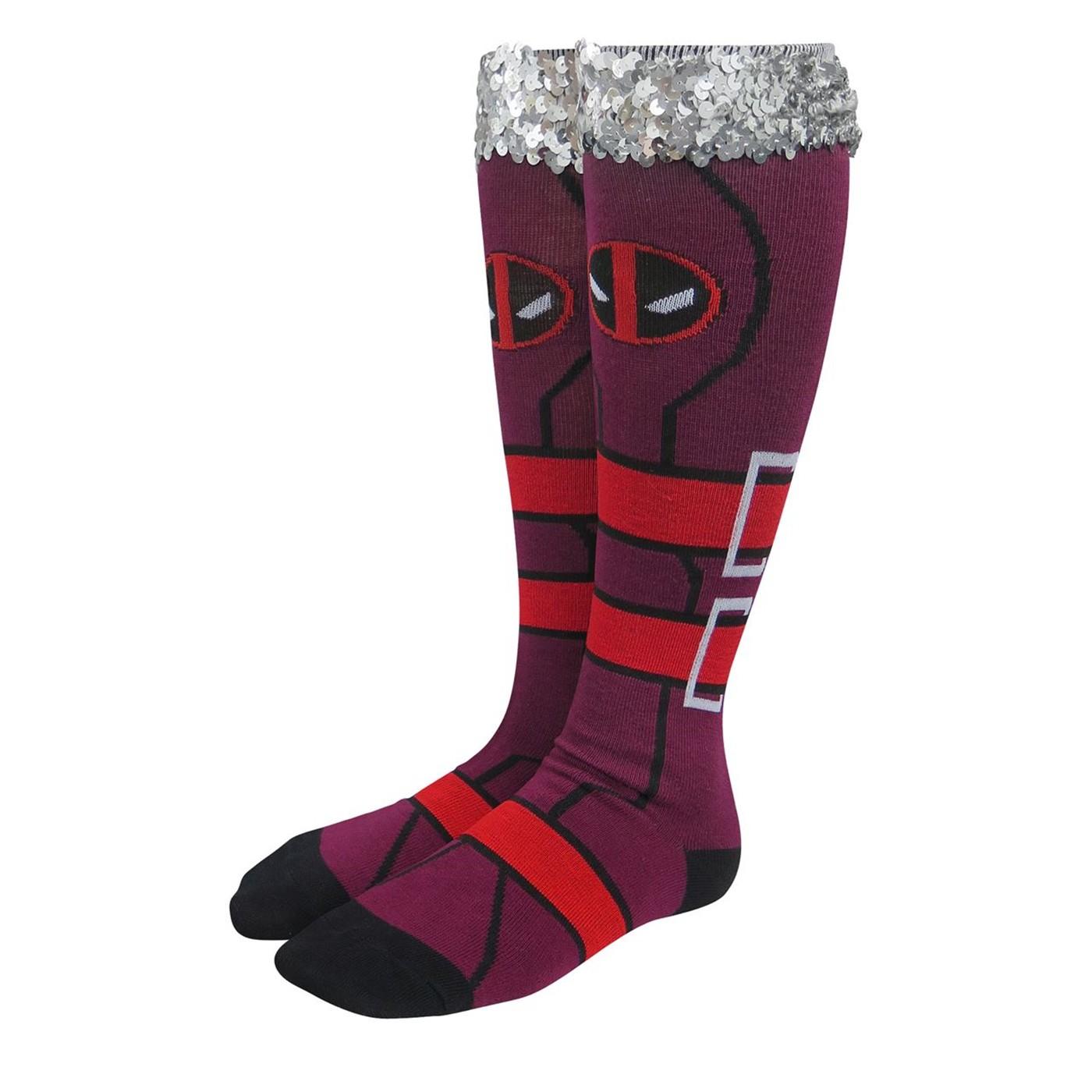 Deadpool Costume Women's Knee High Socks