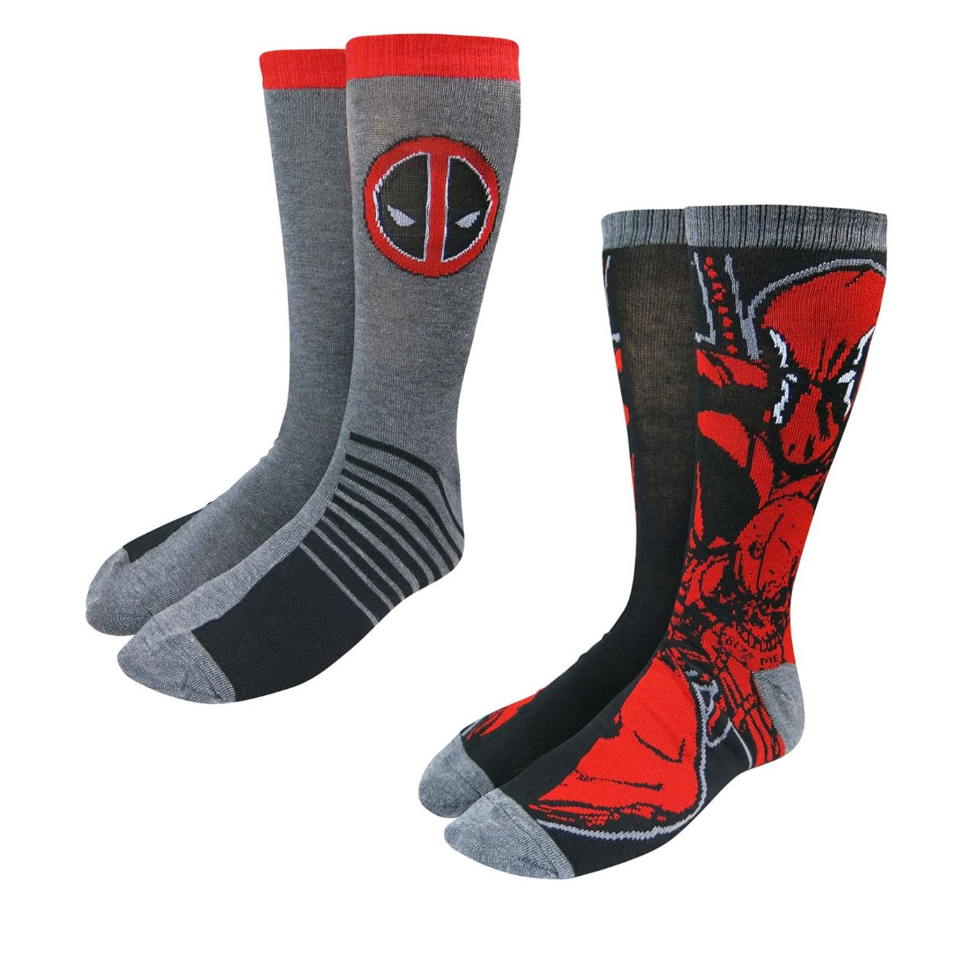 Deadpool Image and Symbol Sock 2 Pack
