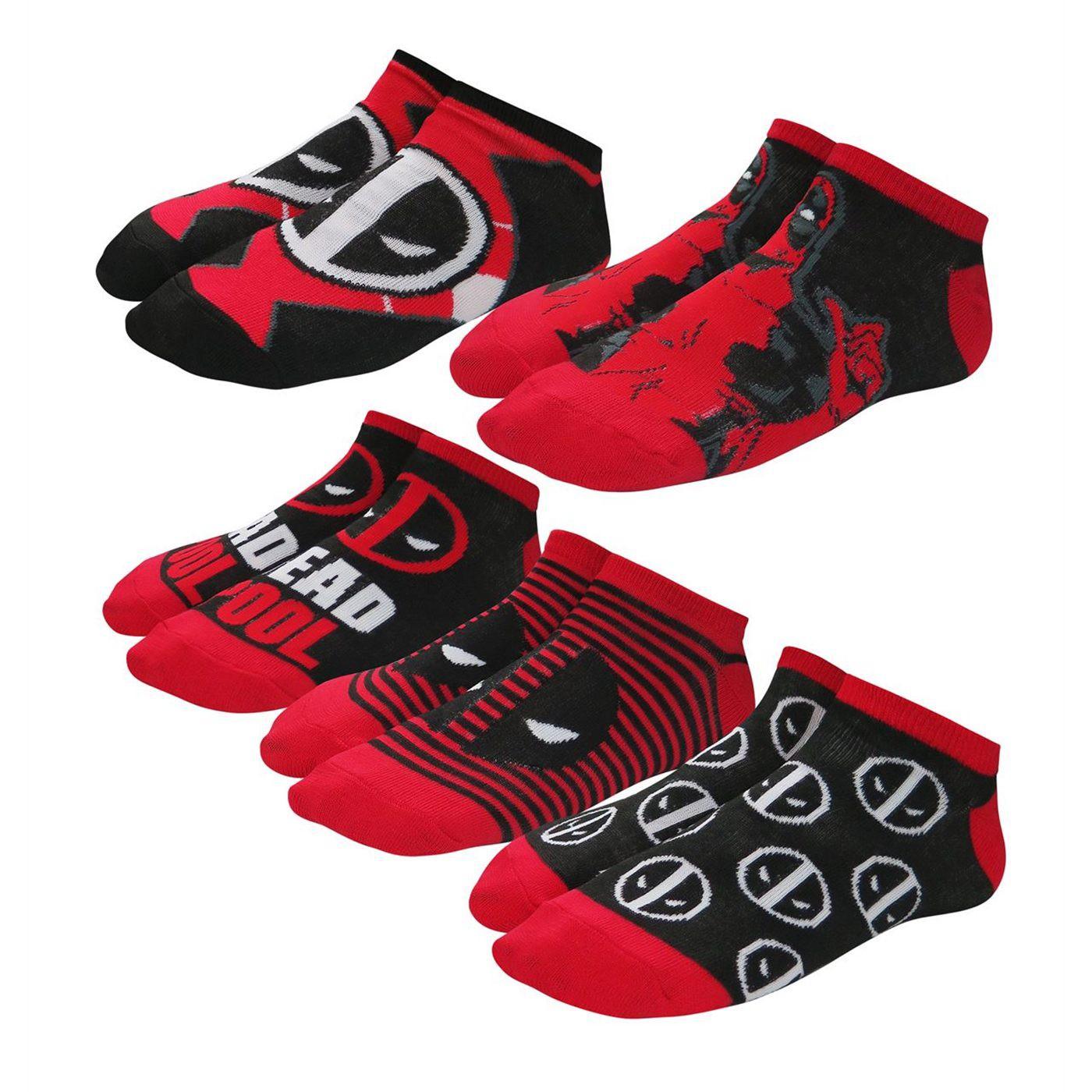 Deadpool Symbols Women's Socks 5 Pack