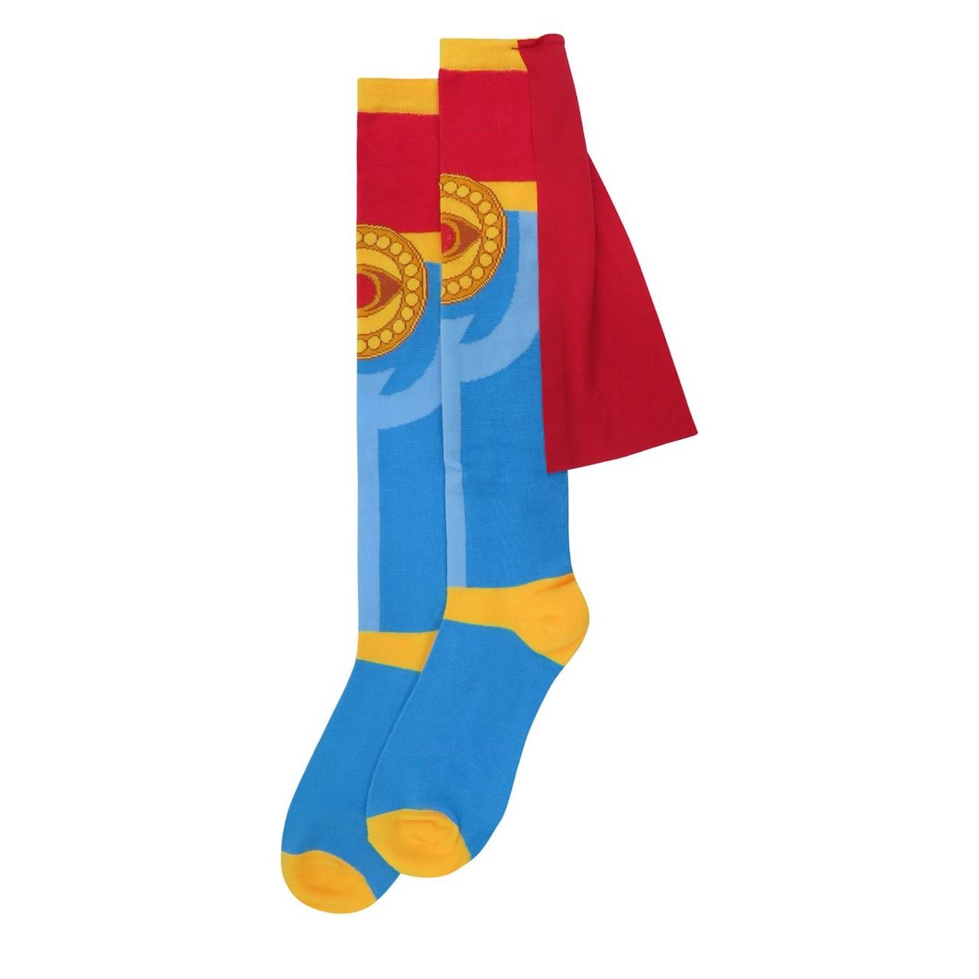 Dr. Strange Costume Crew Socks with Cape