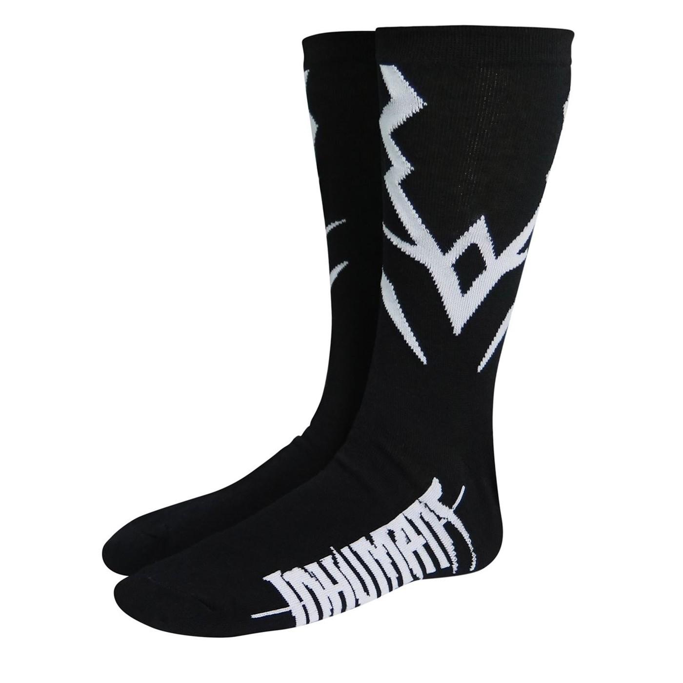 Inhumans Black Bolt Costume Crew Socks
