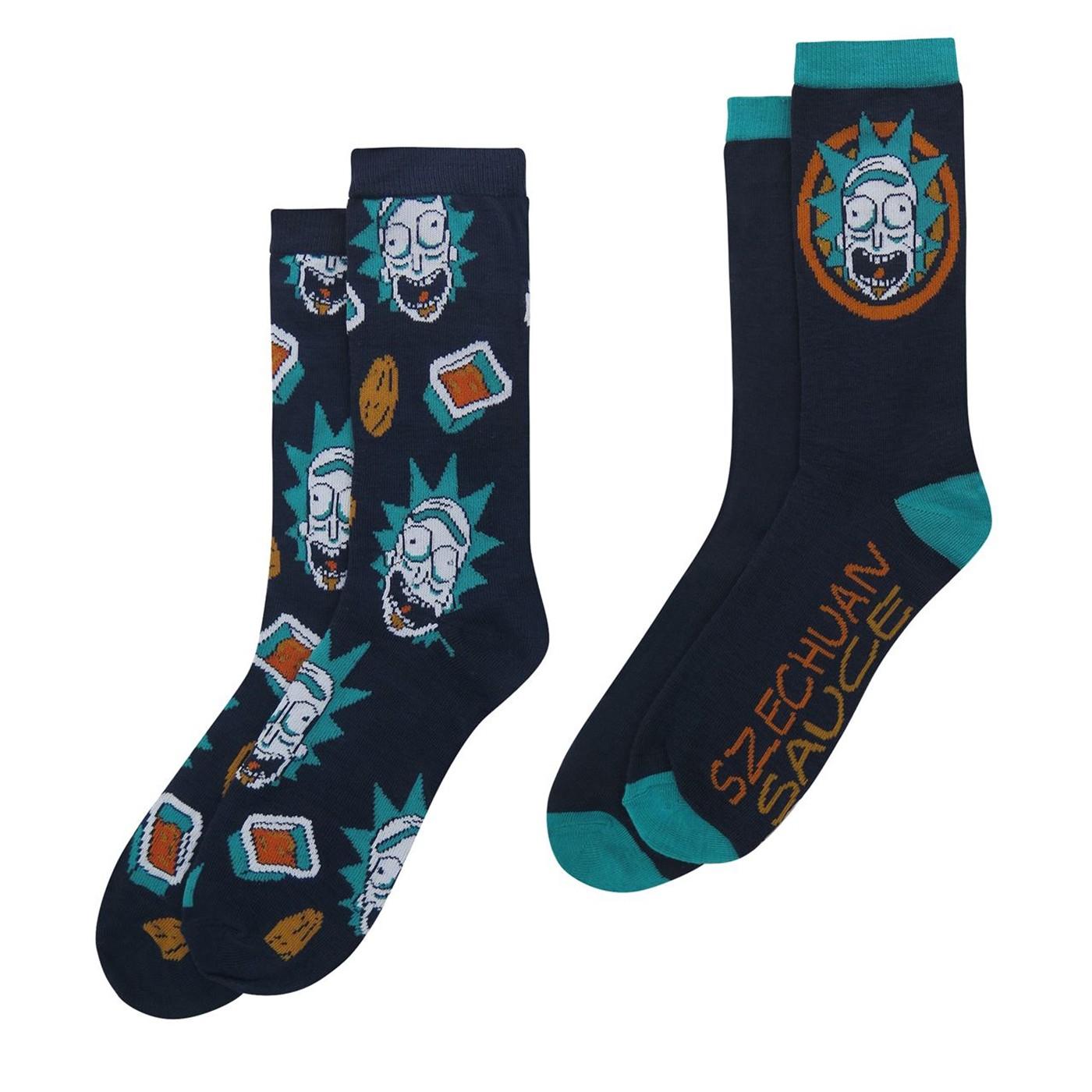 Rick and Morty Szechuan Sauce Crew Sock 2-Pack