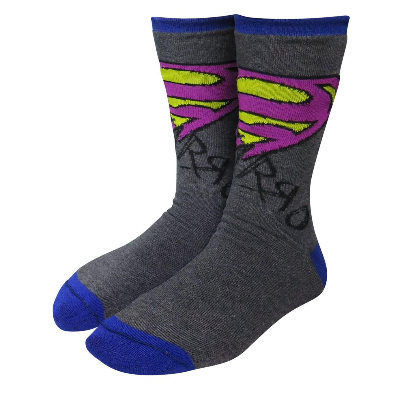 Superman Bizarro Reversible Crew Socks