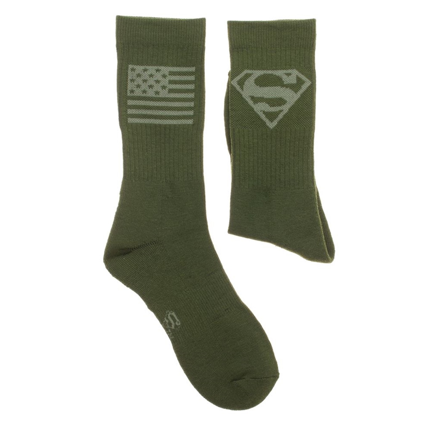 Superman Salute To Service Athletic Crew Socks