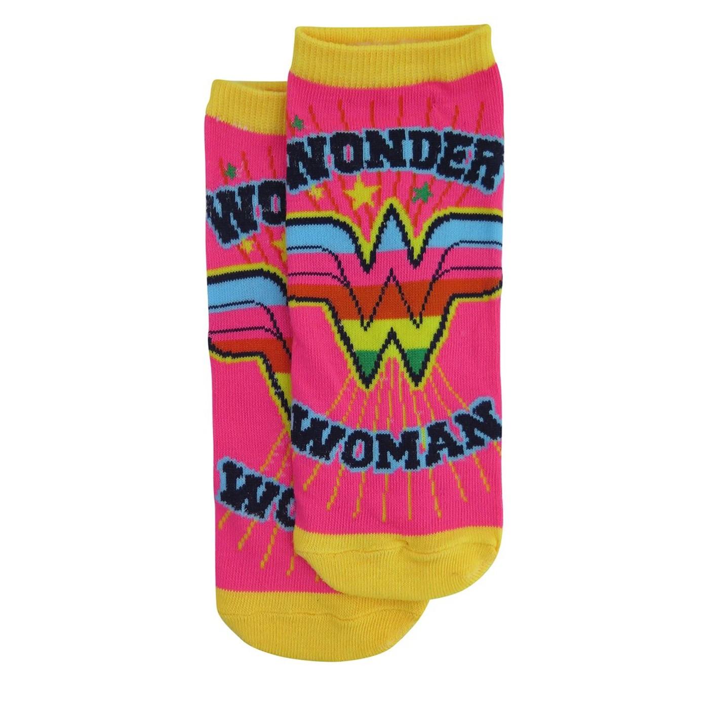 Wonder Woman Neon Women's Low Cut Sock 5-Pack