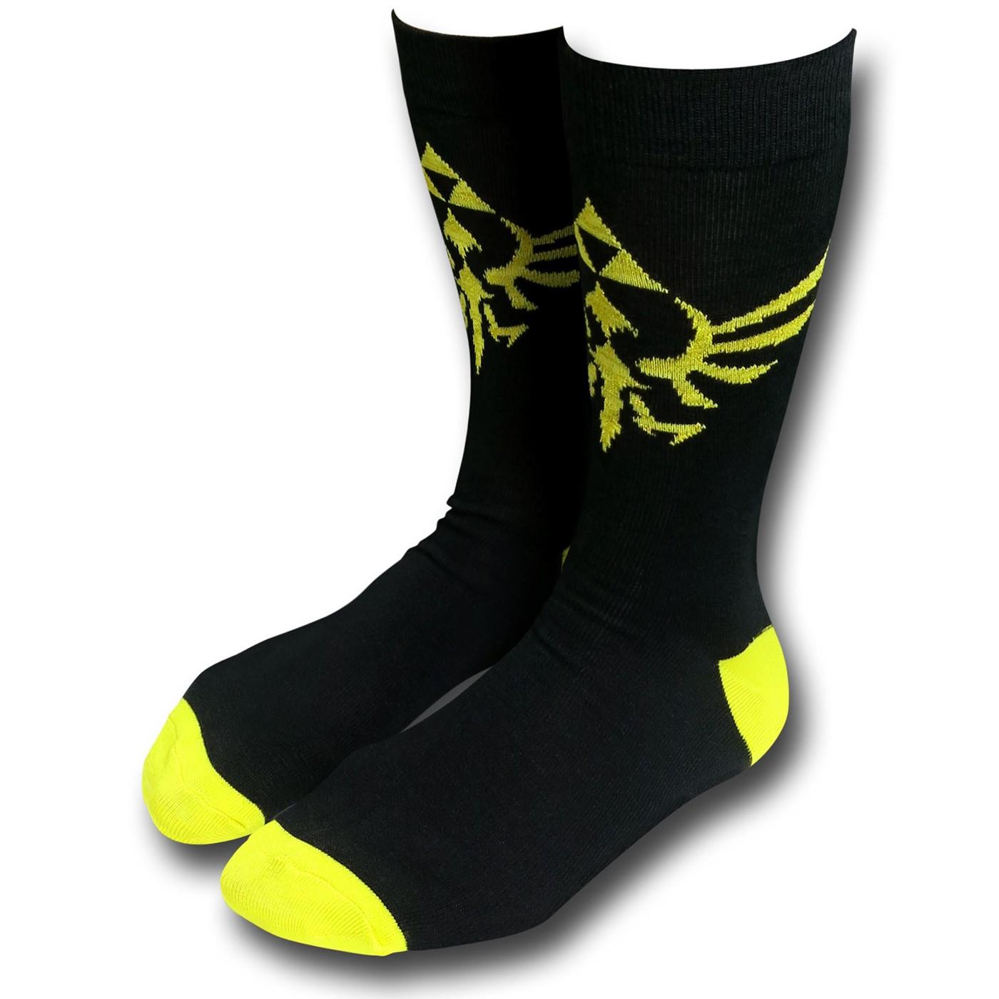 Zelda Triforce Black Crew Socks